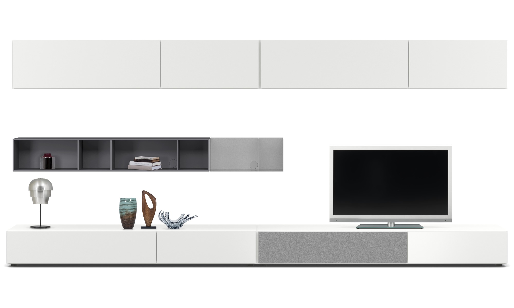 wall units lugano wall system with drawers drop down and flip up doors boconcept. Black Bedroom Furniture Sets. Home Design Ideas
