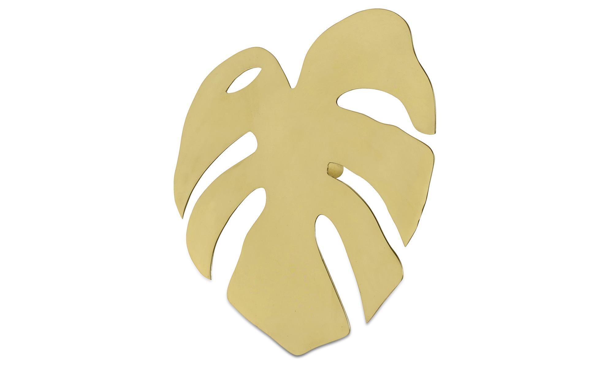 Dekoracja - Dekoracja ścienna Fingerfilodrendon - Żółty - Metal