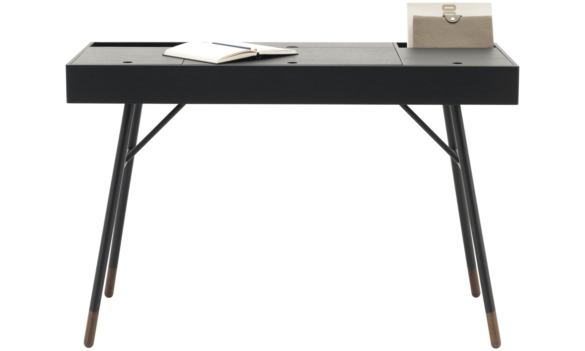 Desks - Cupertino desk - rectangular - Black - Oak