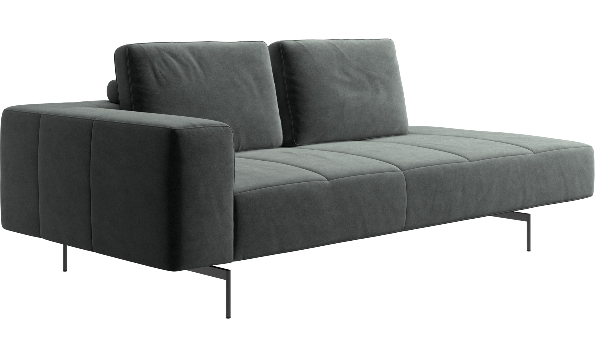 Chaise Lounge Sofas Amsterdam Resting Module For Sofa Large Armrest Right Green