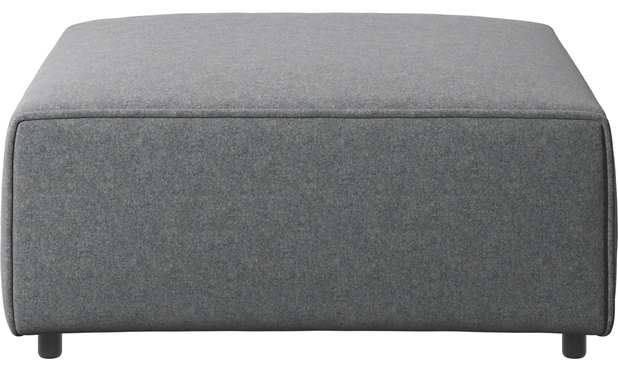Footstools - Carmo footstool - Grey - Fabric