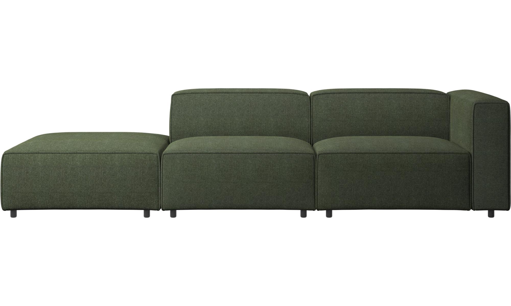 Modulære sofaer - Carmo sofa med loungemodul - Grøn - Stof