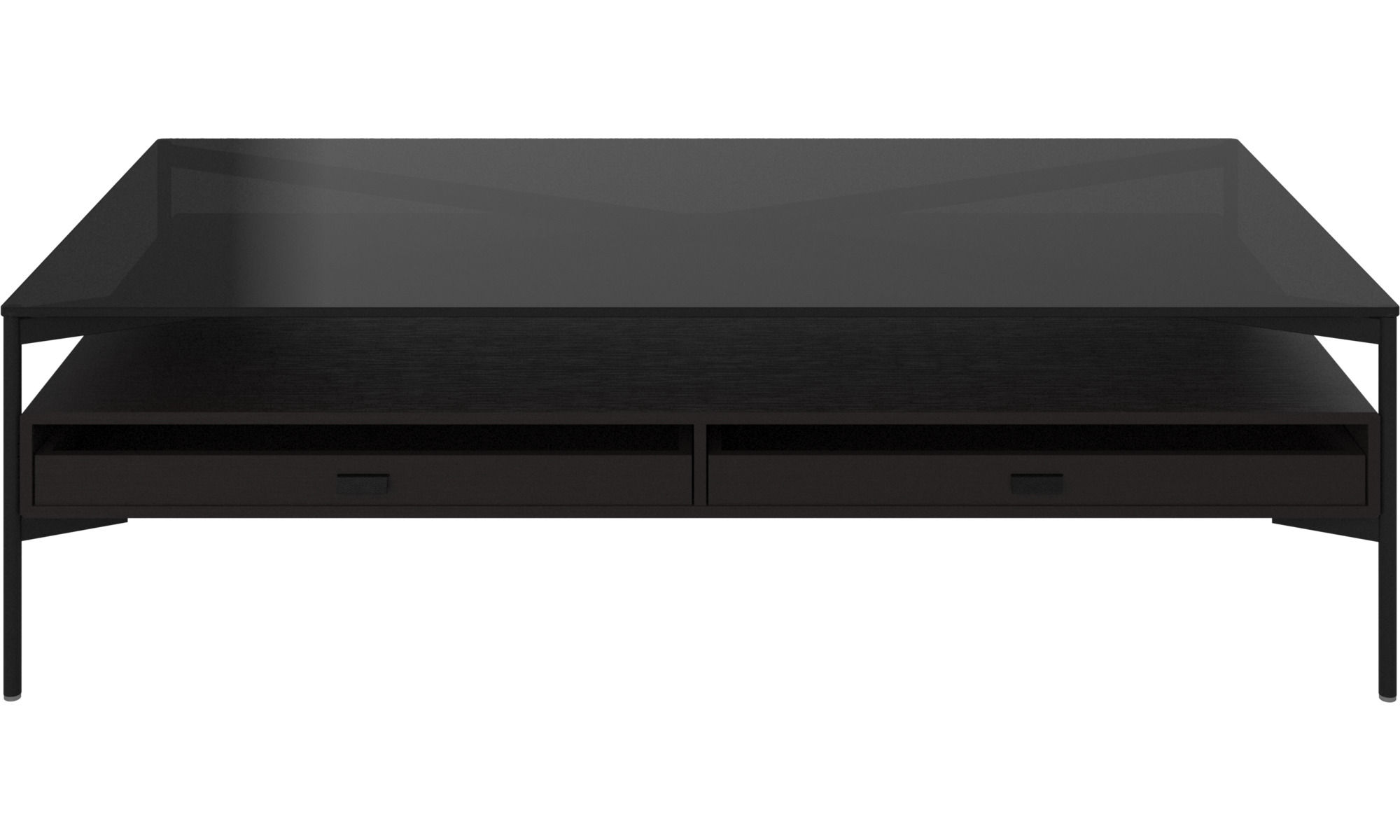 - Coffee Tables - Los Angeles Coffee Table With Storage - Drawers