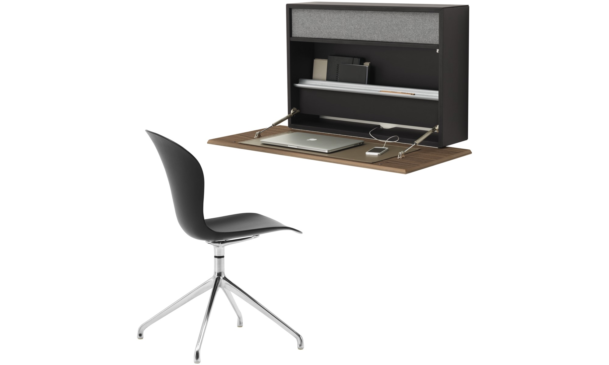 bureaux bureau mural cupertino boconcept. Black Bedroom Furniture Sets. Home Design Ideas