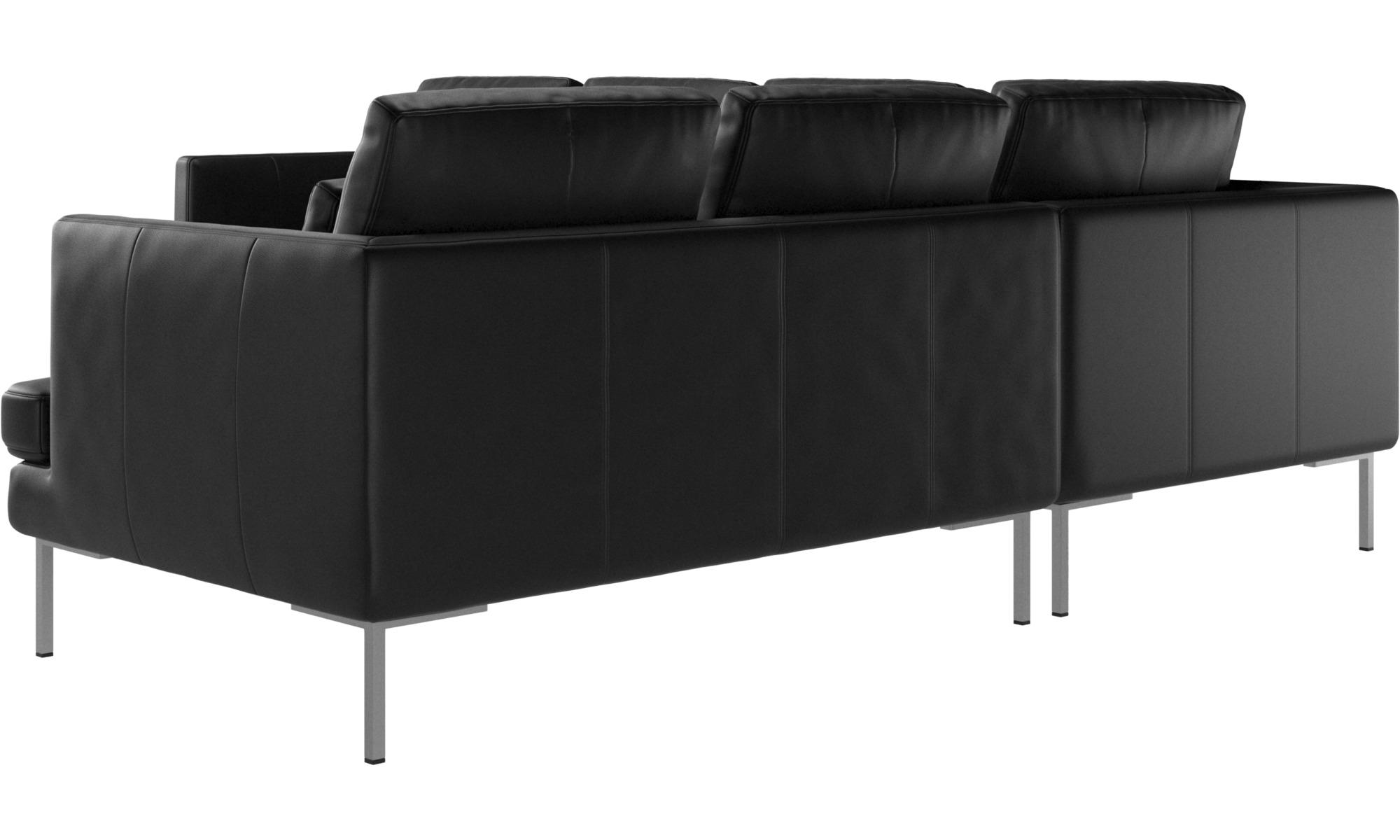 Corner Sofas Istra 2 Sofa Black Leather