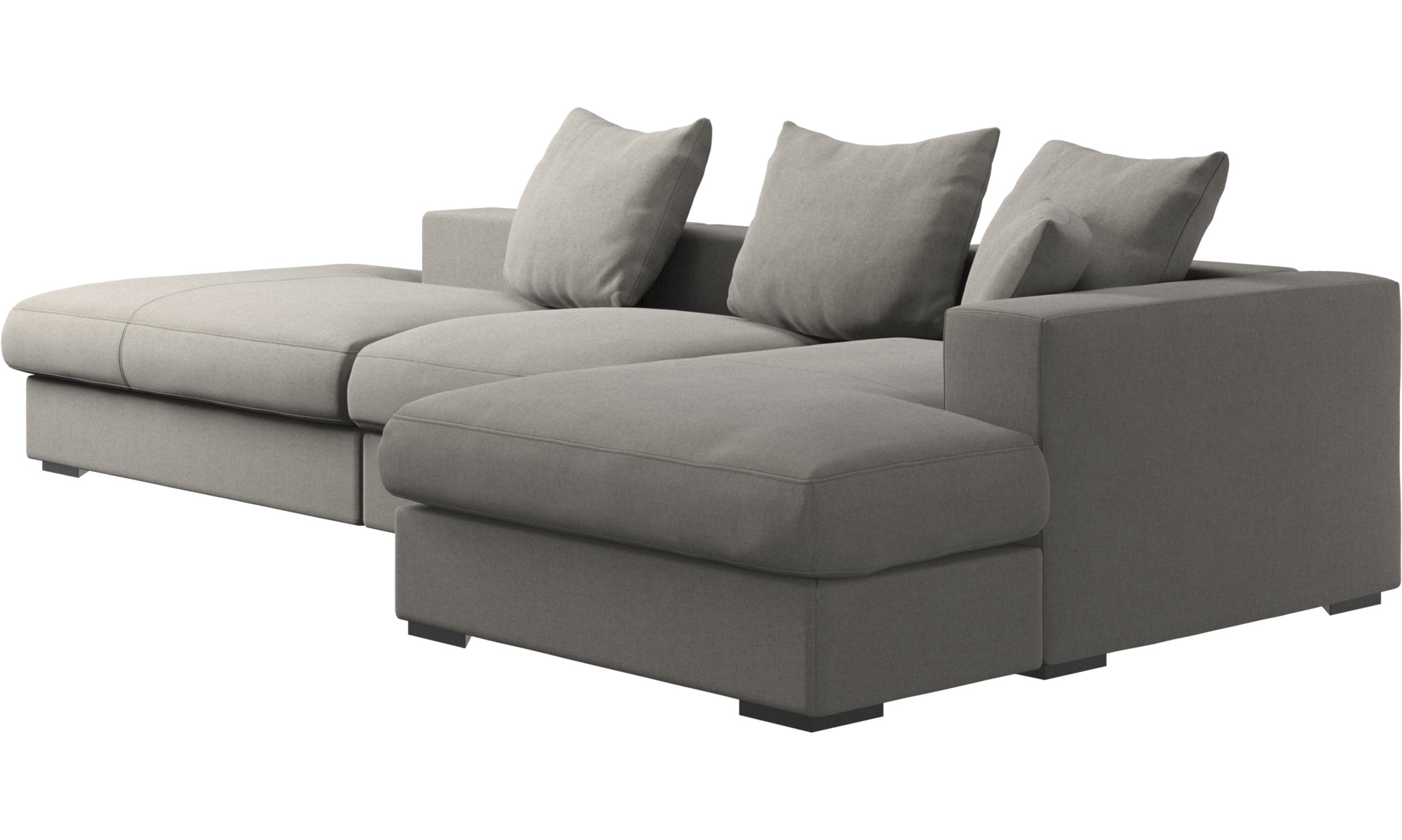 Gentil ... 3 Seater Sofas   Cenova Sofa With Lounging And Resting Unit   Gray    Fabric ...