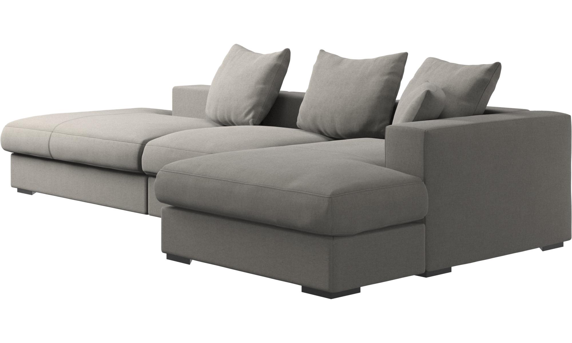 ... 3 Sitzer Sofas   Cenova Sofa Mit Lounge  Und Ruhemodul   Grau   Stoff  ...