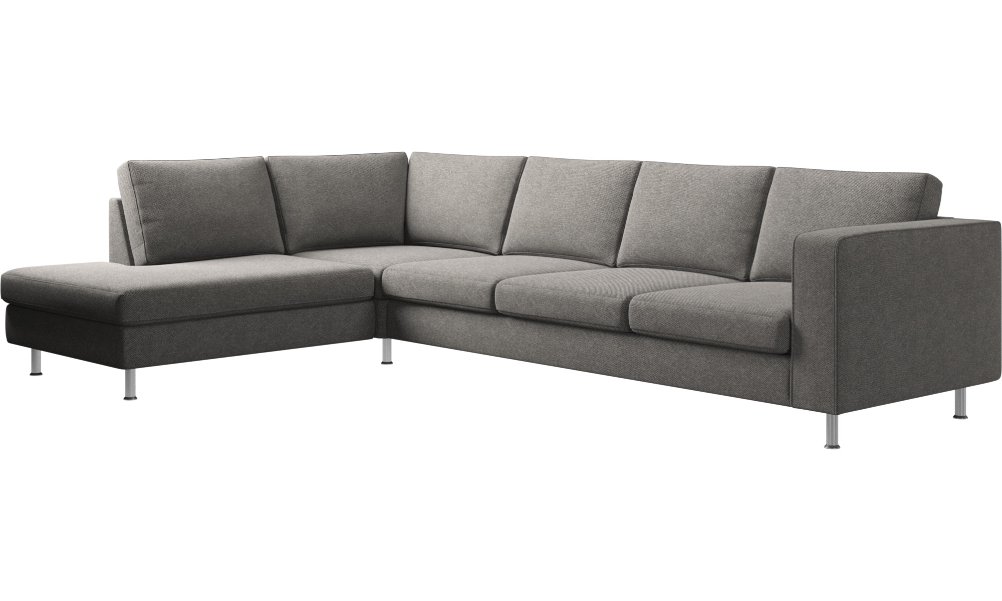 Sofas With Open End Indivi 2 Corner Sofa Lounging Unit Grey Fabric