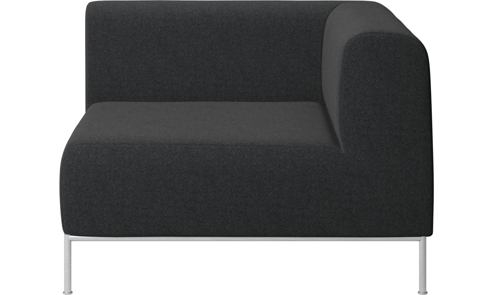 Modulære sofaer - Miami hjørnemodul højre side - Grå - Stof