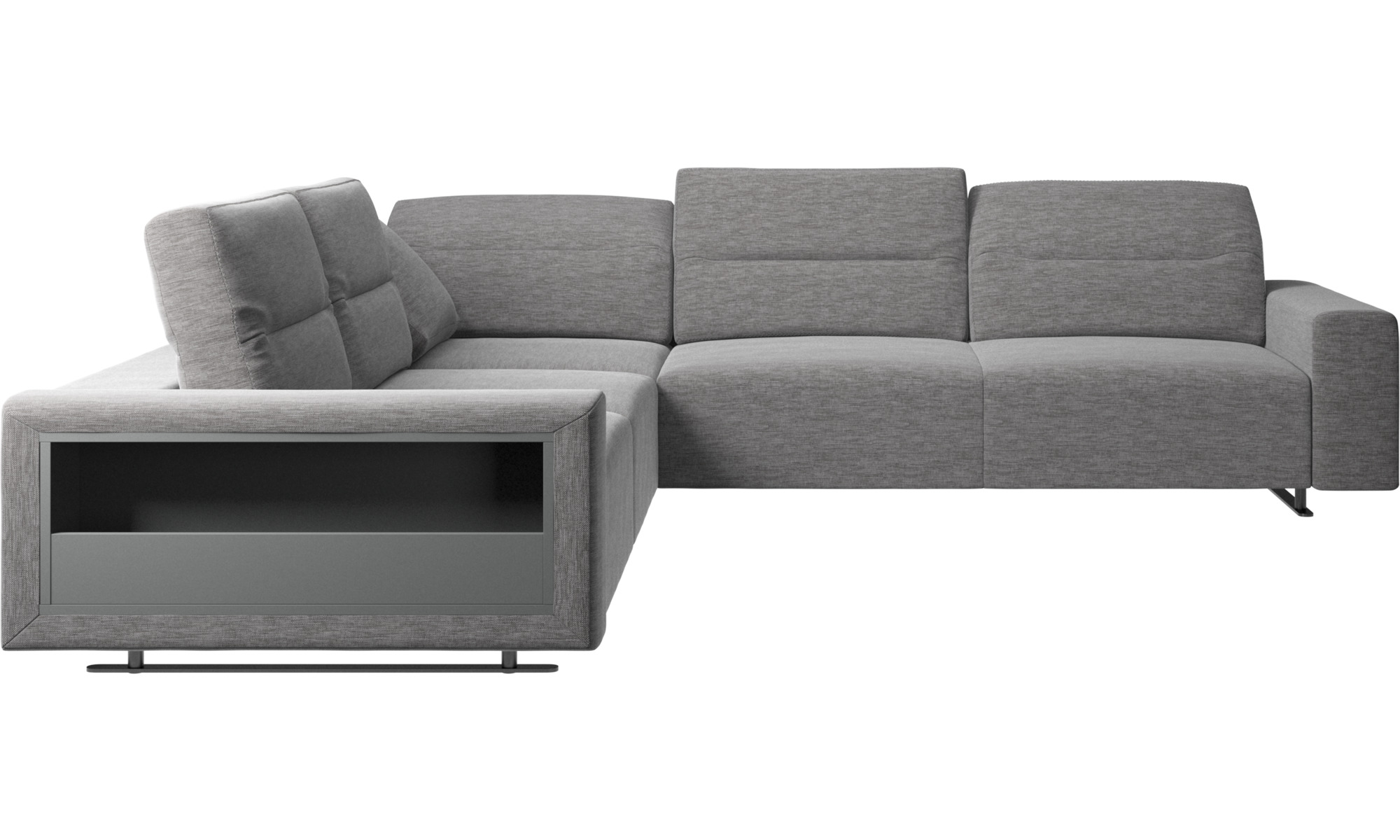 sofa hampton ecksofa mit verstellbarer r ckenlehne und stauraum auf der linken seite boconcept. Black Bedroom Furniture Sets. Home Design Ideas