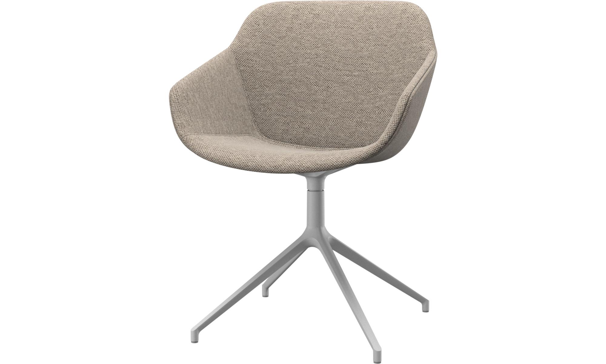 Esszimmerstühle - Vienna Stuhl mit Drehfunktion - Beige - Stoff