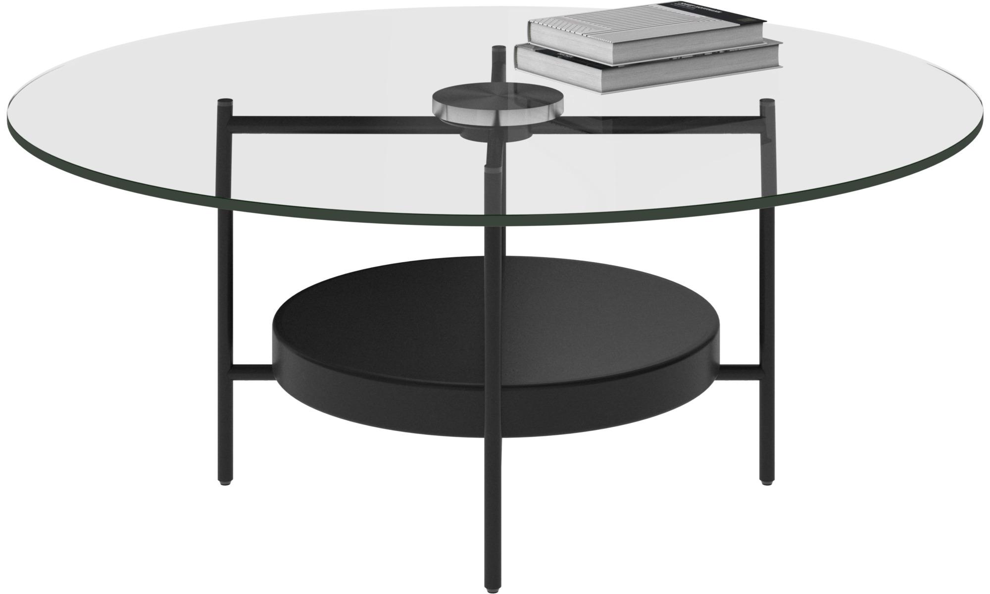 Tables basses - Table basse Madrid - rotonde - Verre transparent - Verre