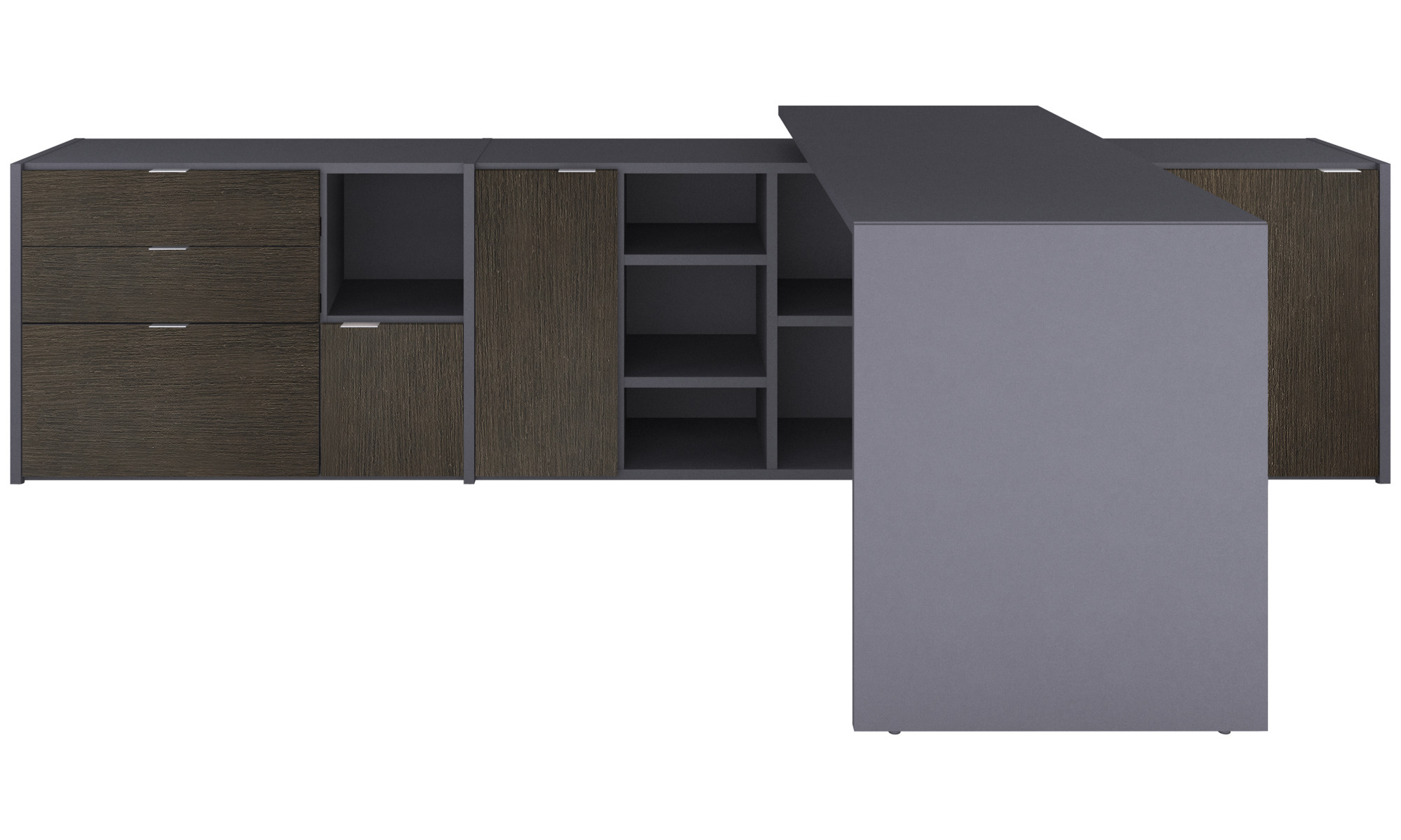 Office storage - Copenhagen office system - Gray - Lacquered