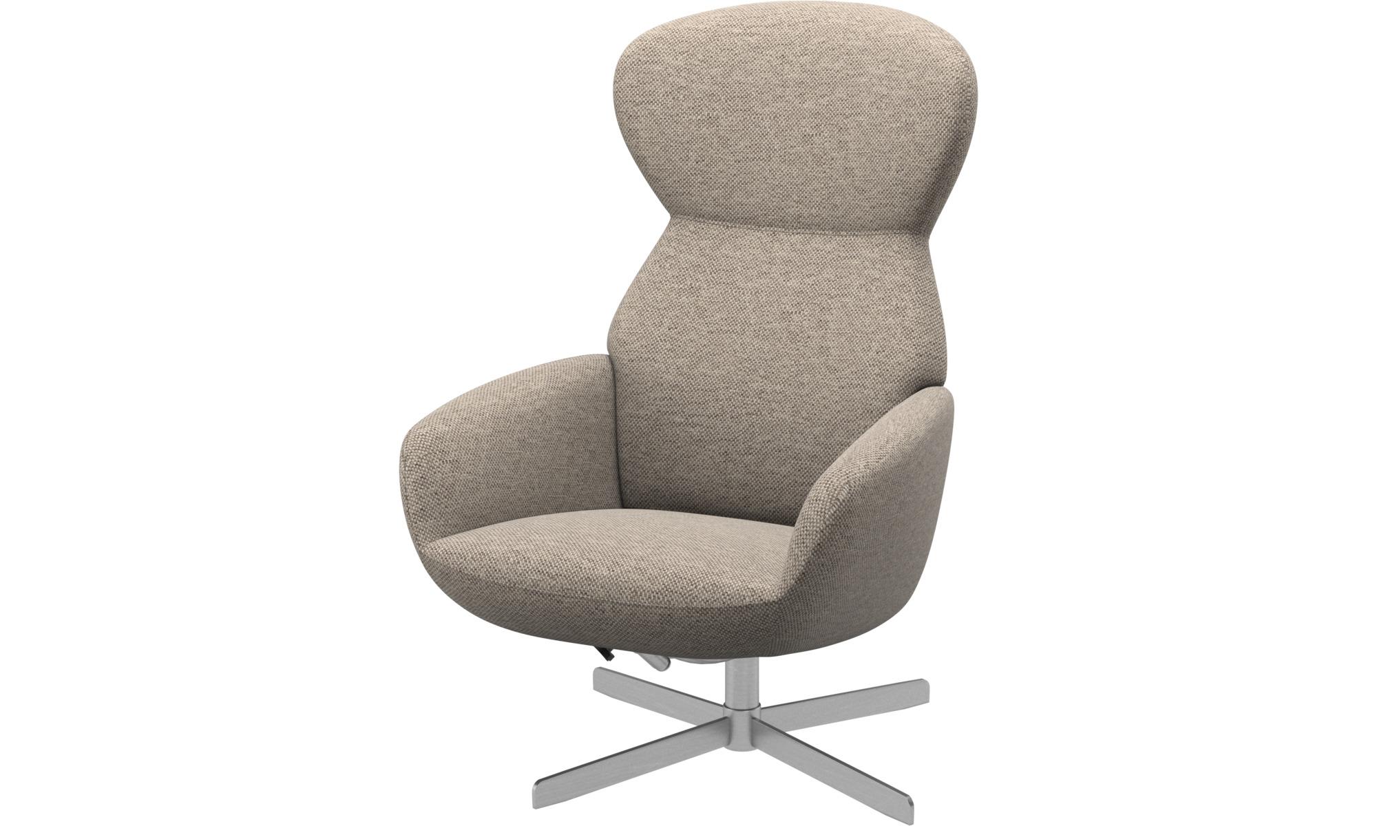 Relax-Sessel - Athena Sessel mit Kippfunktion und Drehsockel - Beige - Stoff