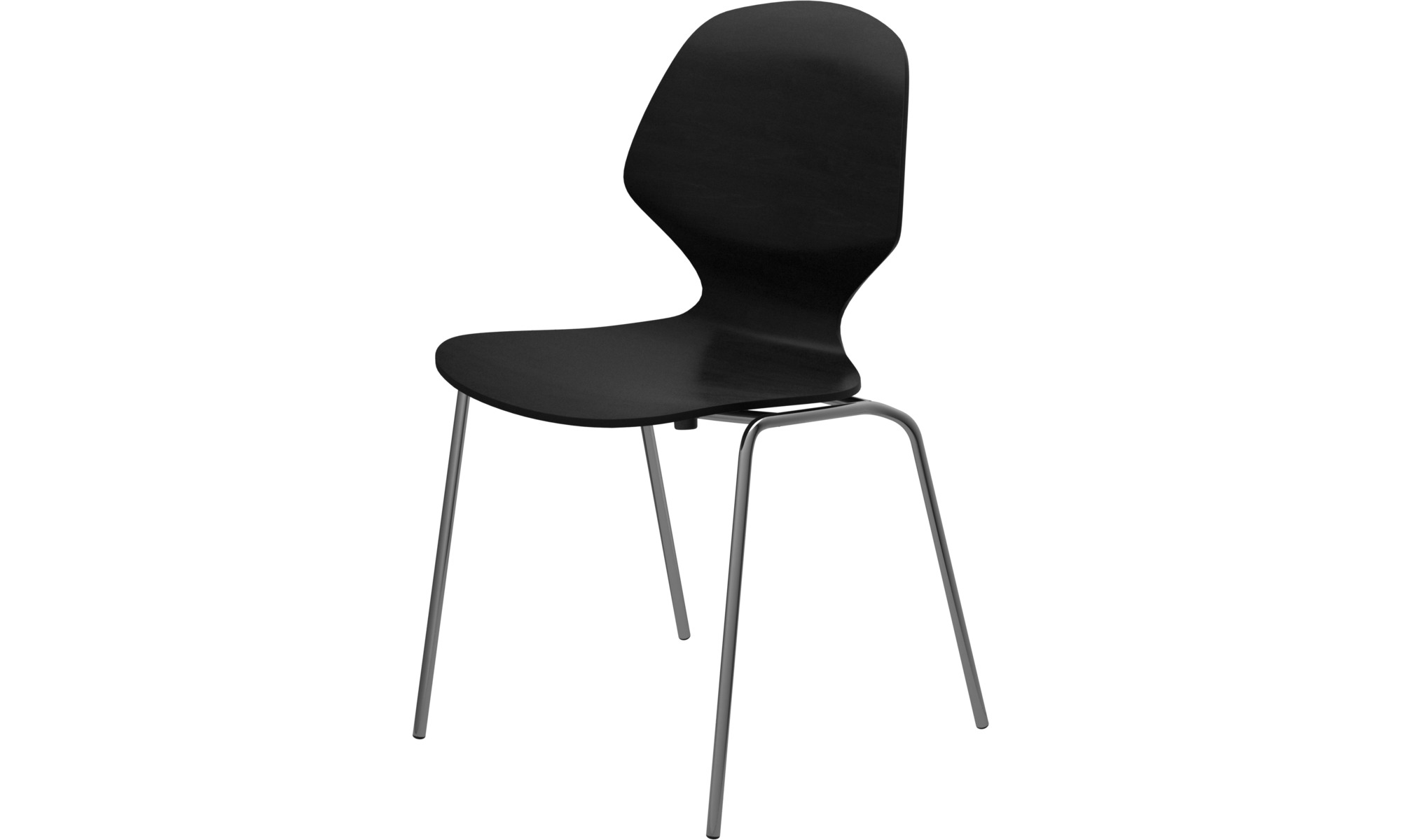 Dining chairs - Florence chair - Black - Lacquered