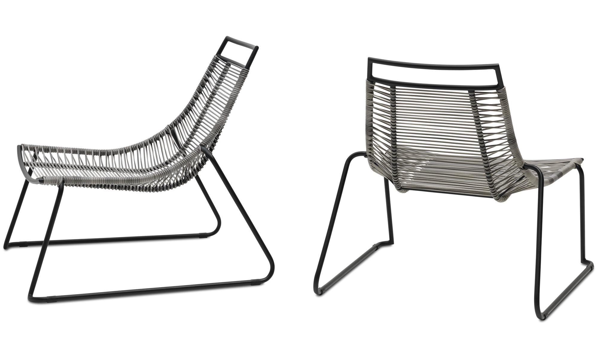 Sillas de exteriores - silla Elba Lounge (apta para uso interior y ...