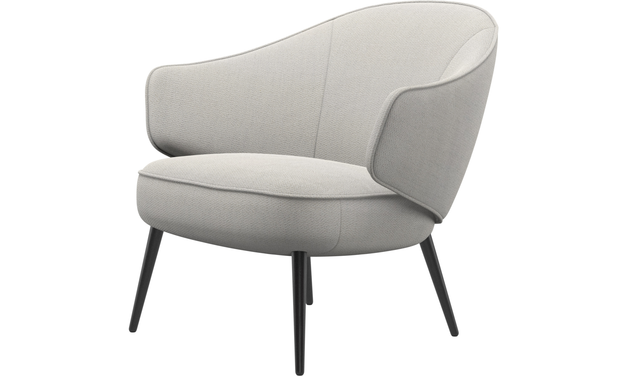 Armchairs - Charlotte chair - White - Fabric