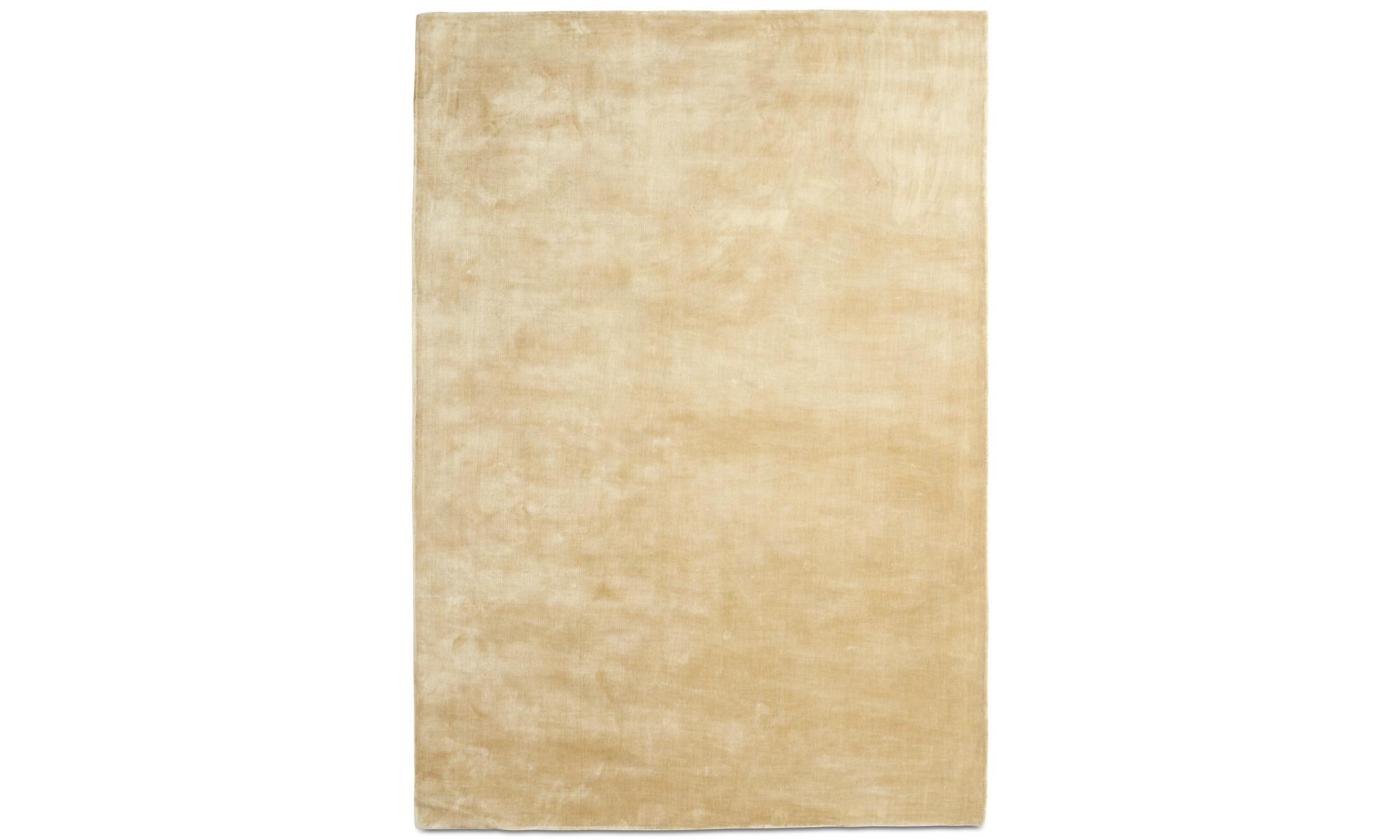 Runda mattor - Loom matta - rektangulär - Beige - Tencel