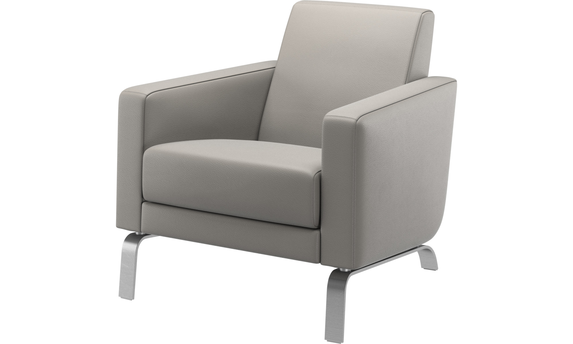 Armchairs - Fly chair - Grey - Leather
