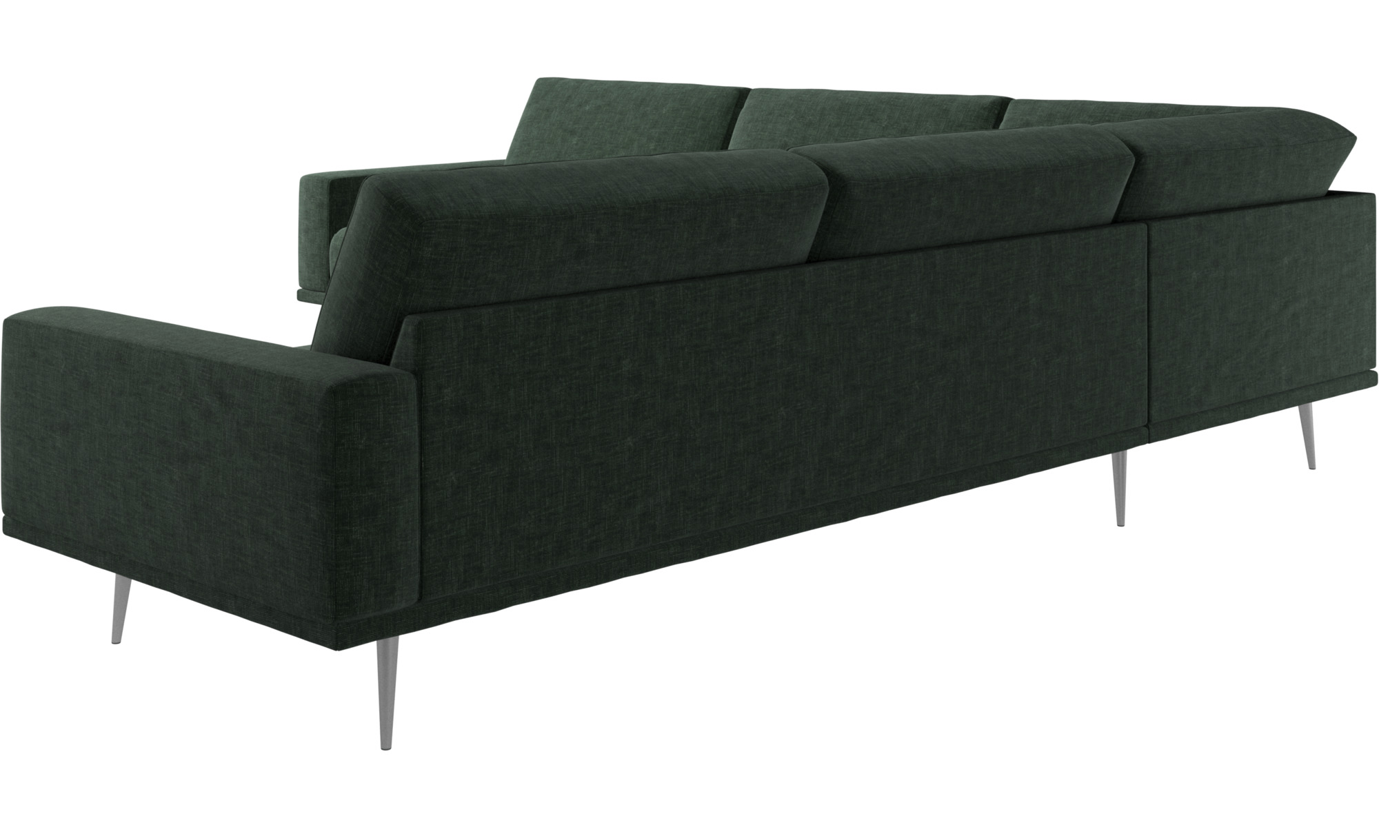... New Designs   Carlton Corner Sofa   Green   Fabric ...