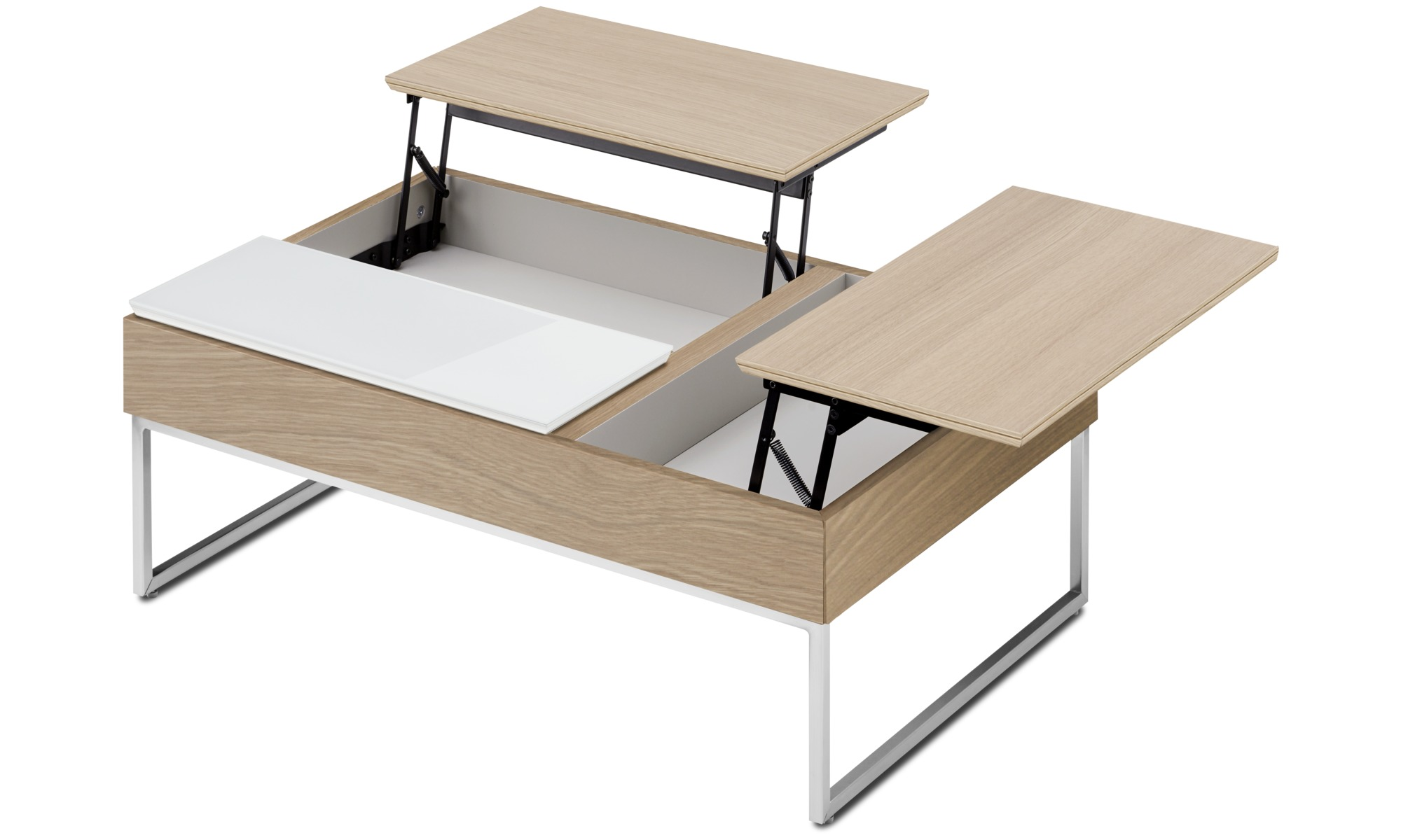 Coffee tables chiva functional coffee table with storage boconcept - Table basse rangement bouteille ...