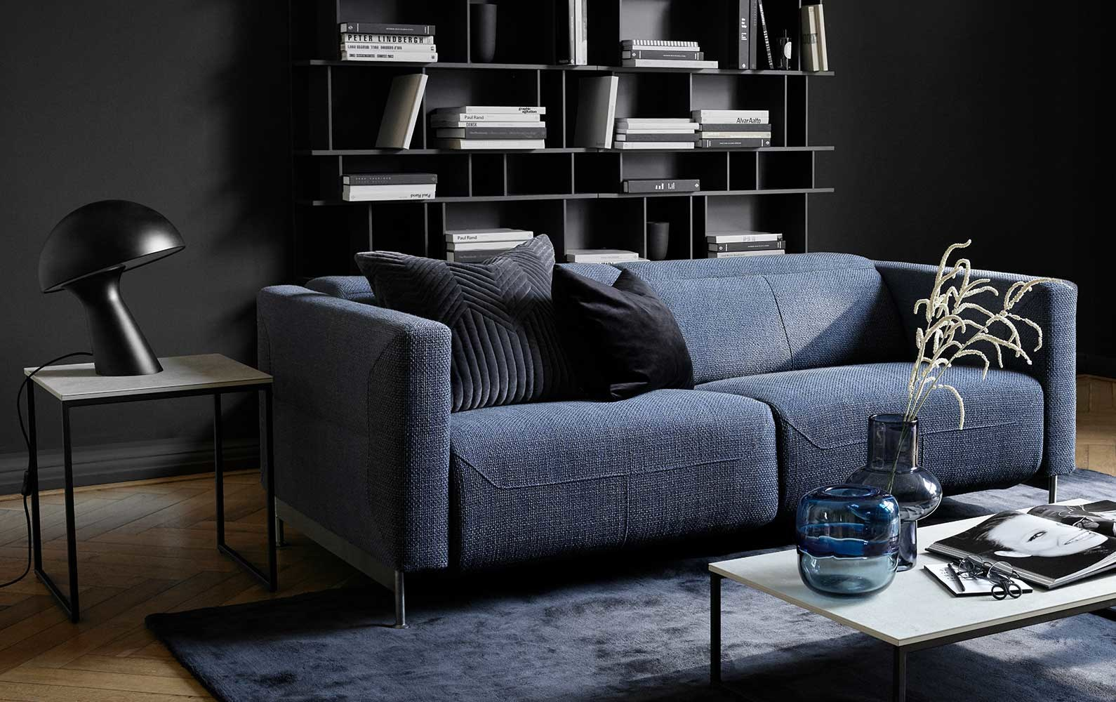 Sofás reclinables - Sofá reclinable Parma con módulo chaise-longue