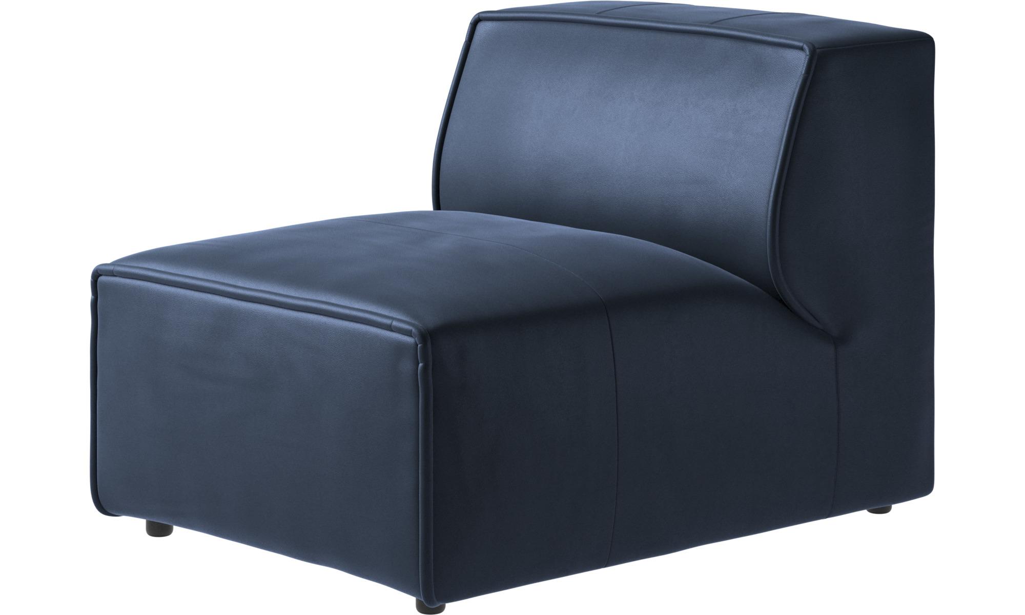 Armchairs - Carmo chair/basic unit - Blue - Leather