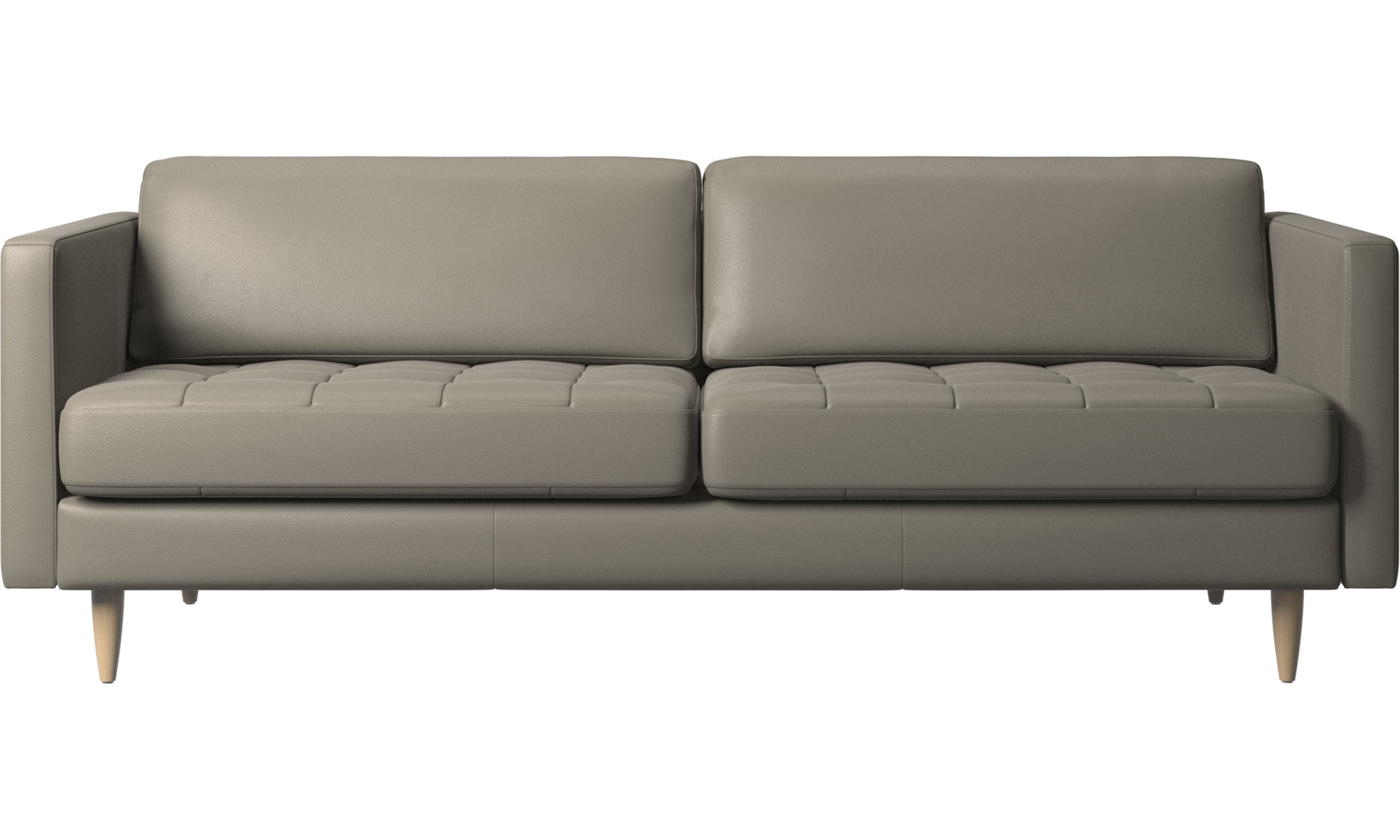 2½ personers sofaer - Osaka sofa, tuftet sædehynde - Grå - Læder