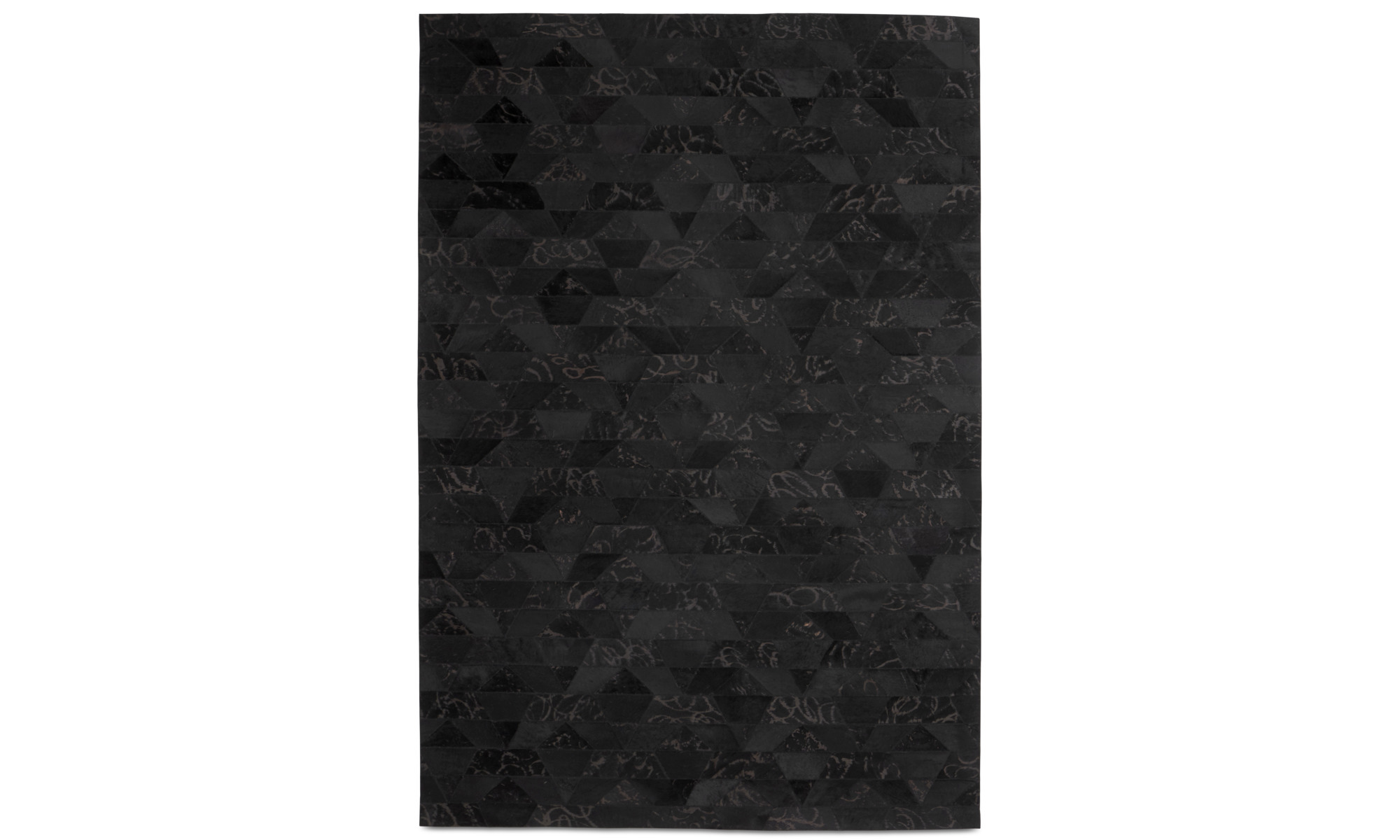 Mattor - Mystic matta - rektangulär - Svart - Läder
