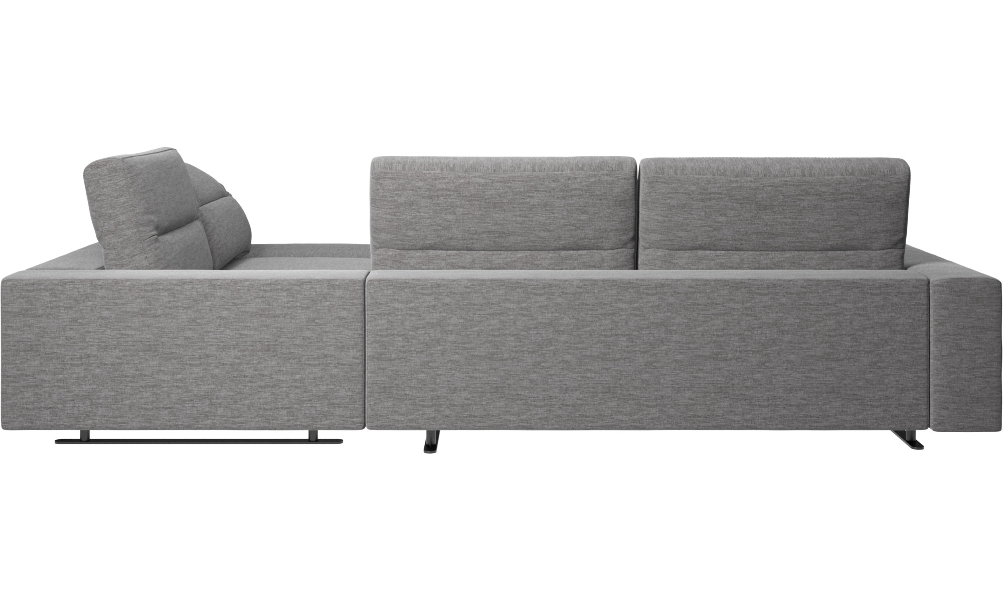 Corner Sofas Hampton Sofa With Adjule Back And Storage On Left Side Gray