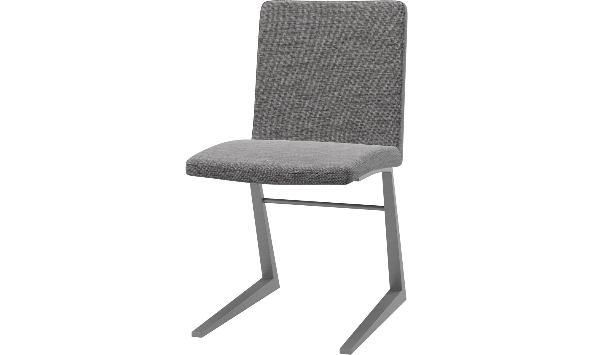 Cadeiras de jantar - Cadeira Mariposa Deluxe - Cinza - Tecido