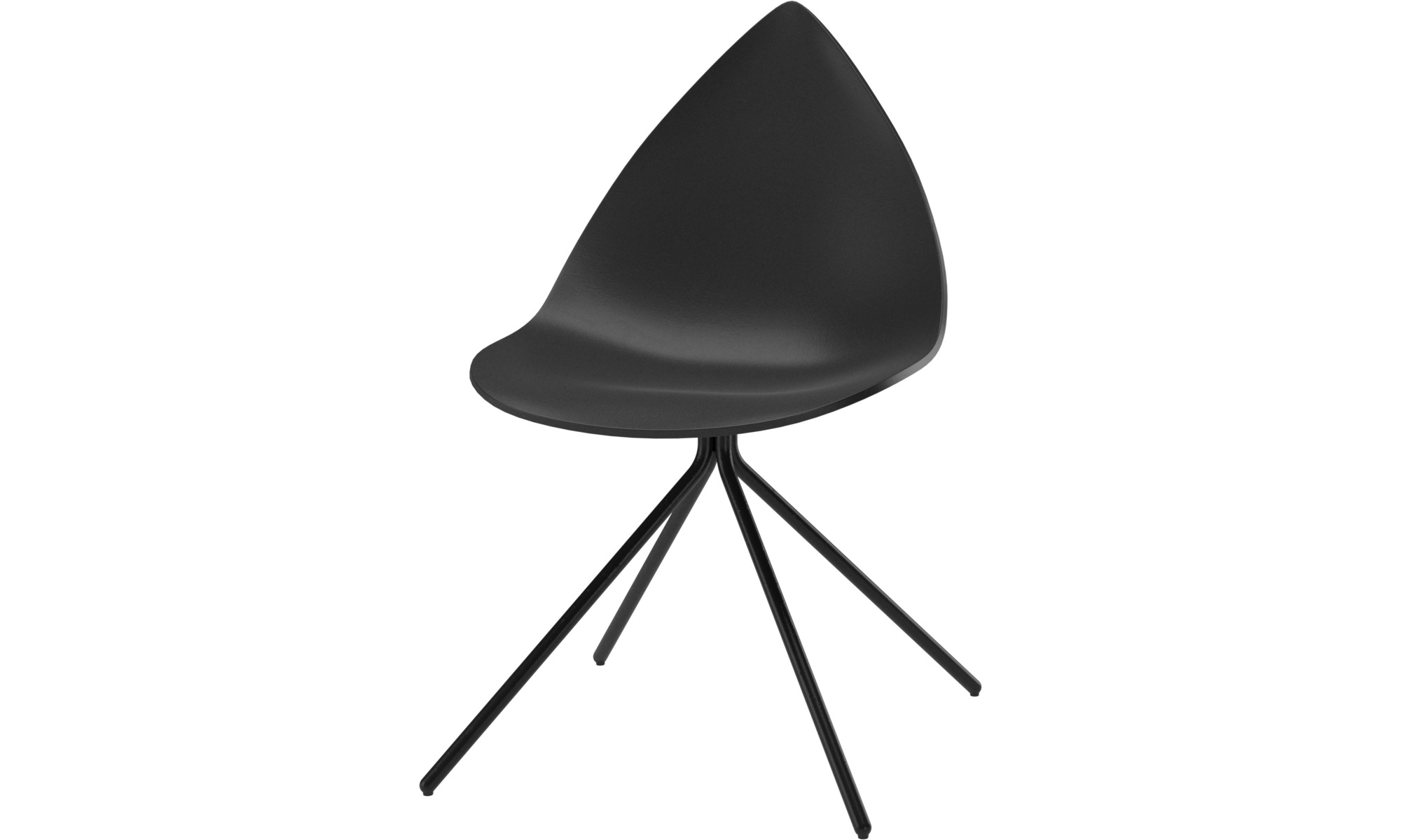 Dining chairs - Ottawa chair - Black - Lacquered