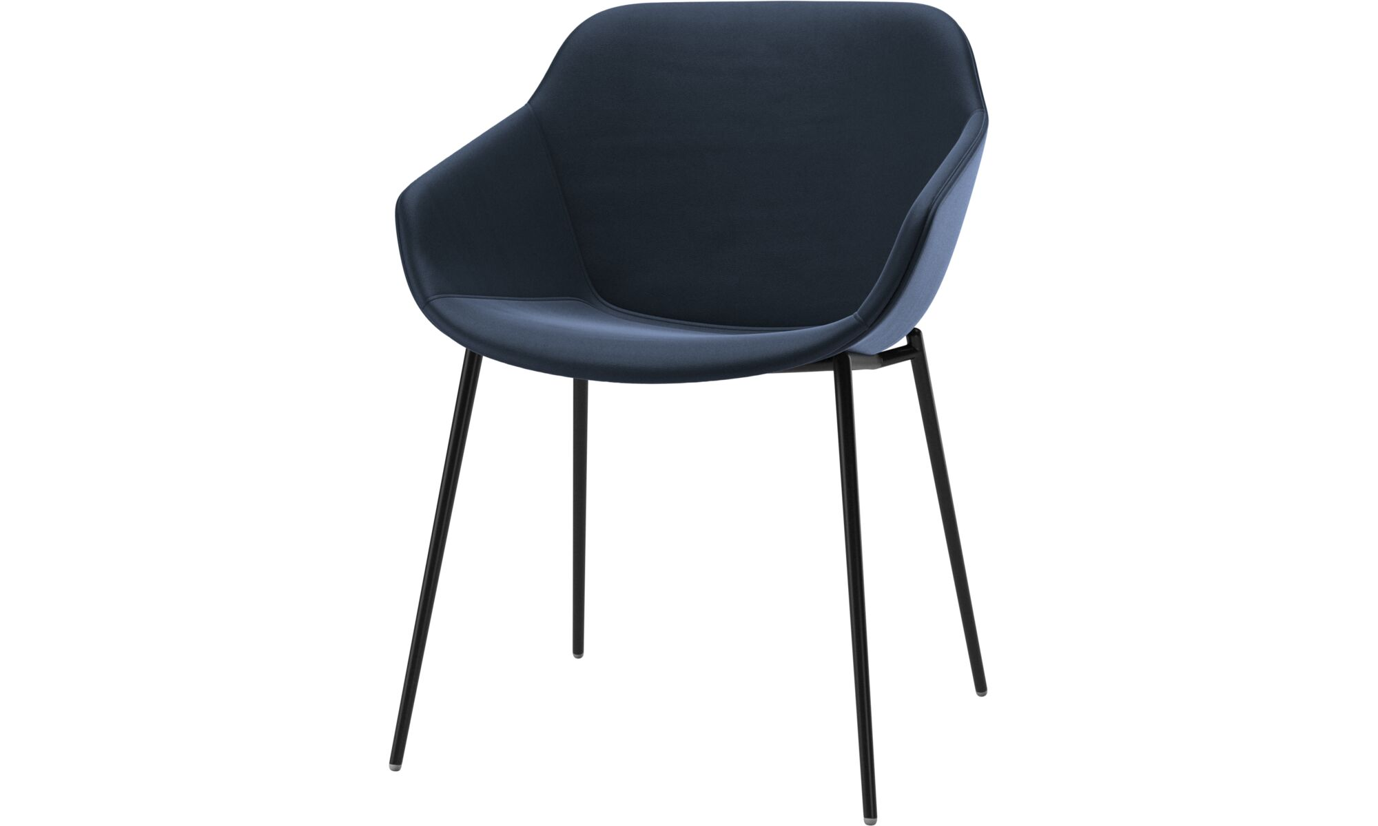 Dining chairs - Vienna chair - Blue - Leather