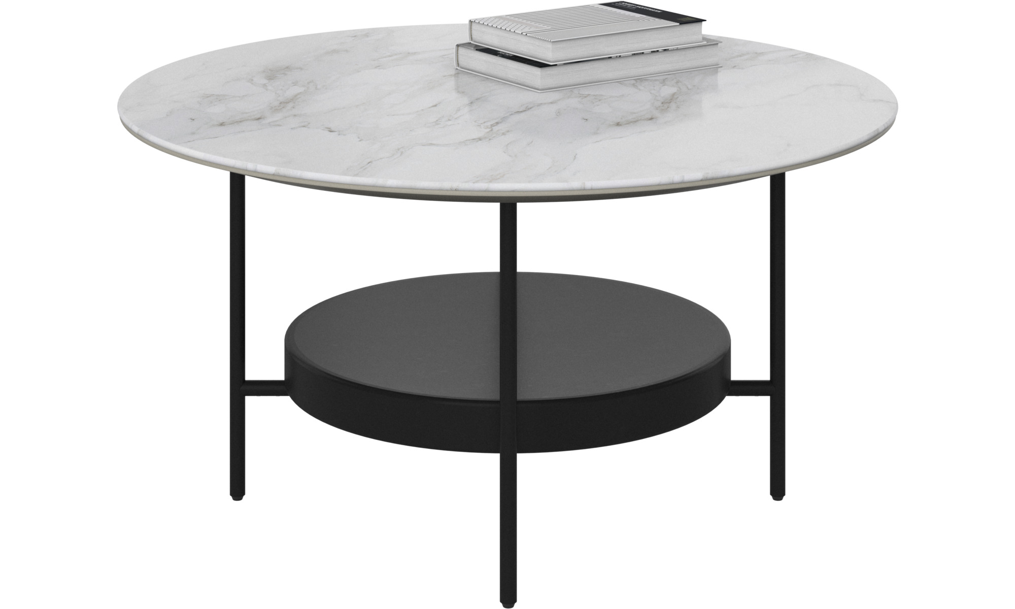 Coffee tables - Madrid coffee table - round - White - Ceramic