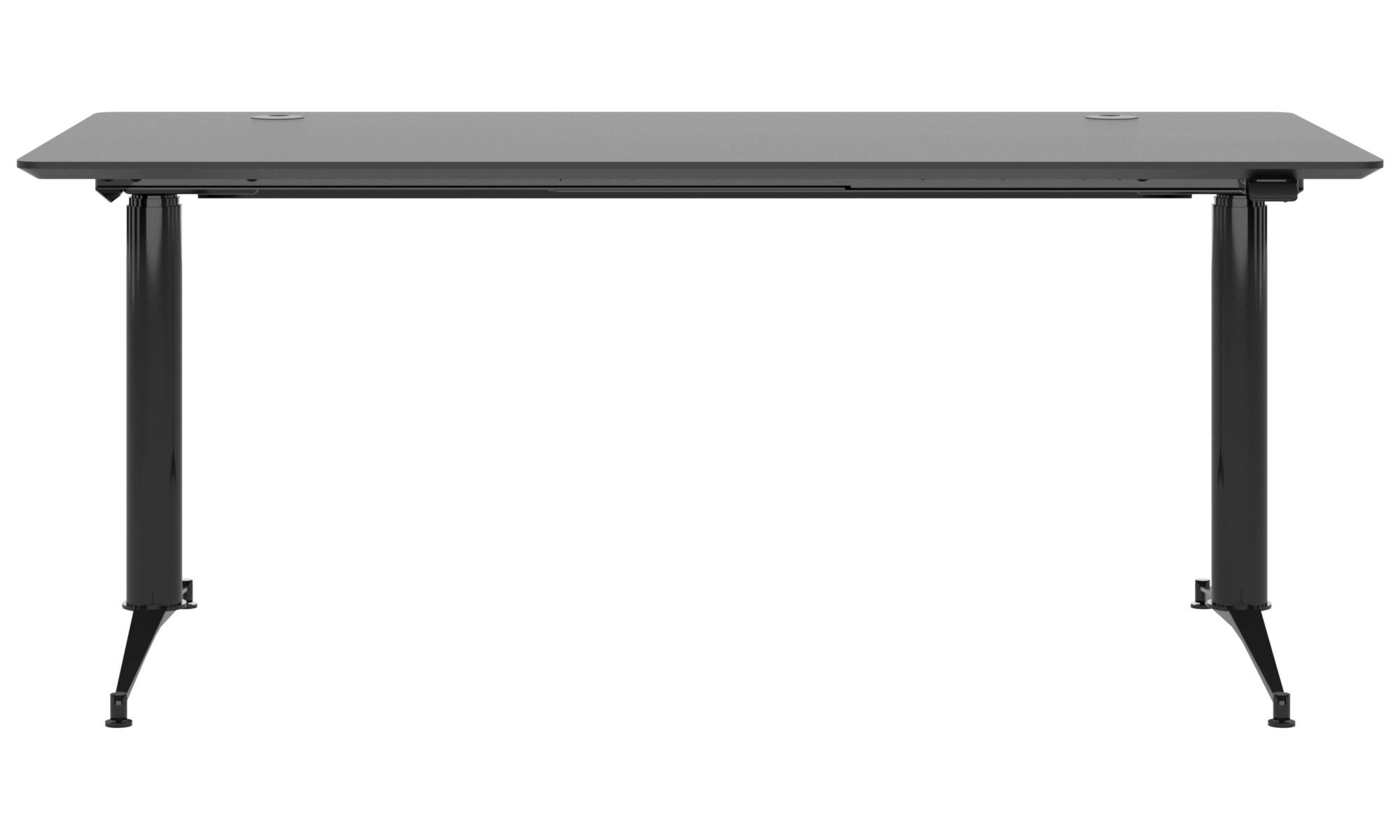 Desks - Phoenix electric office desk - square - Black - Linoleum