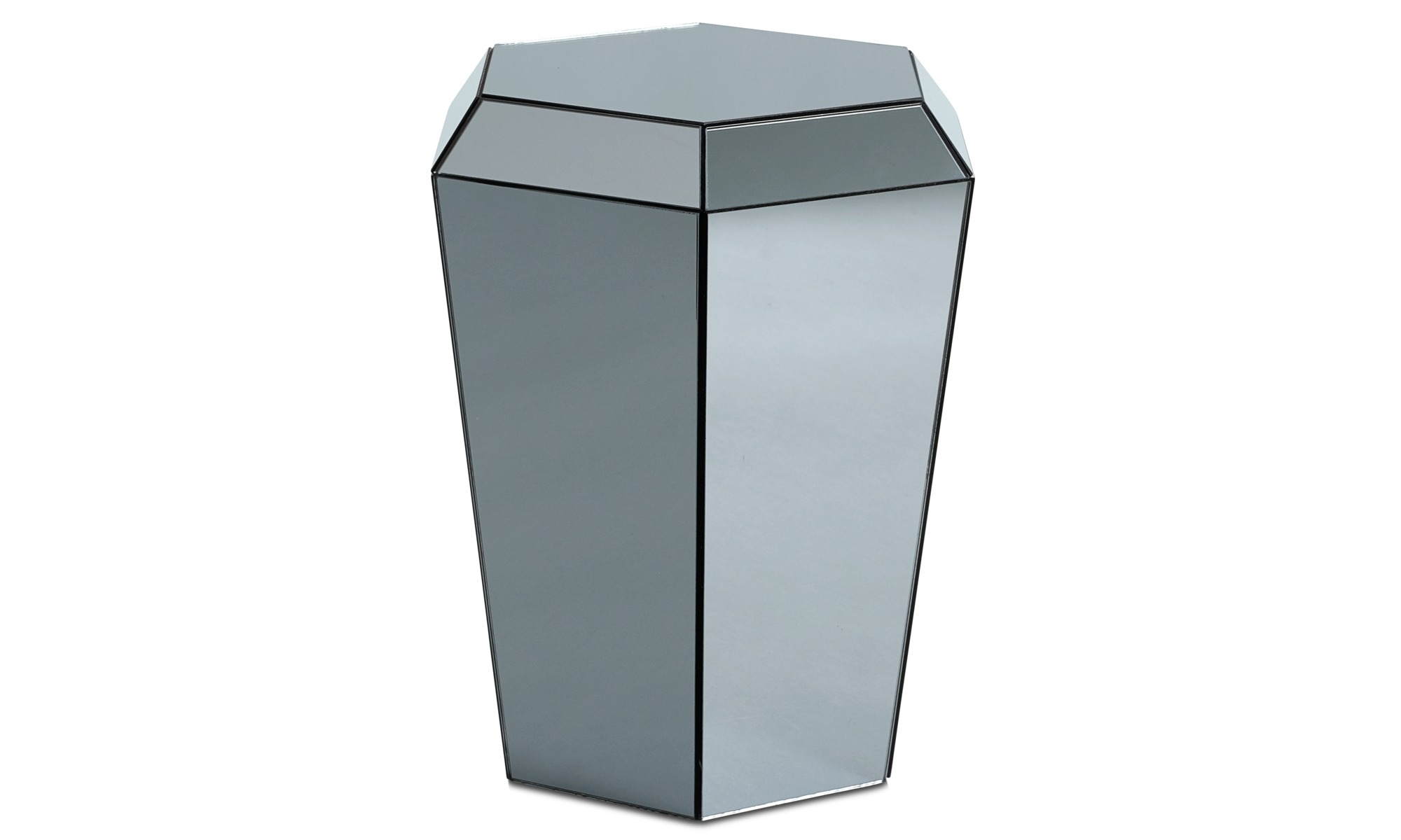Small furniture - Diamond mirror table - Grey - Glass