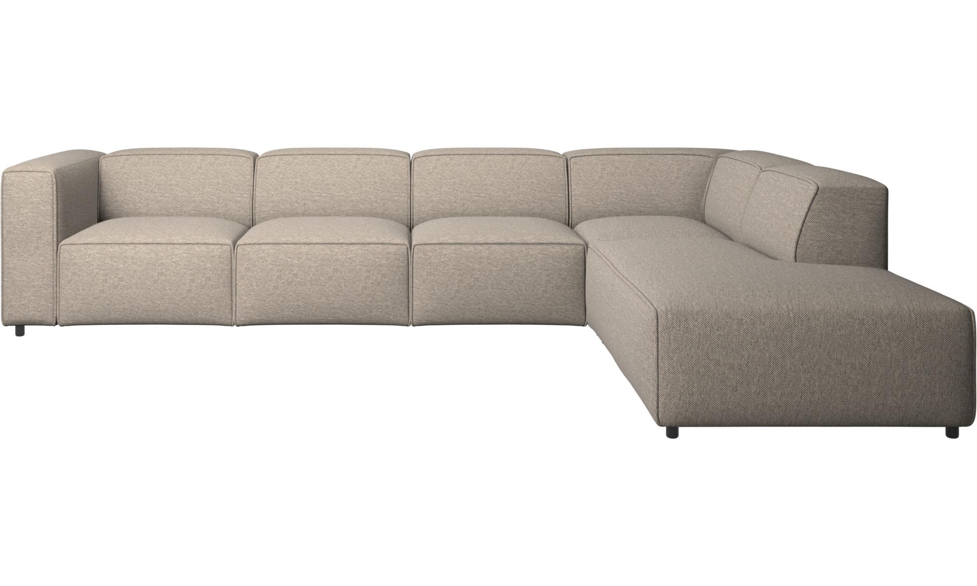 Modulare Sofas - Carmo Ecksofa mit Loungemodul - Beige - Stoff