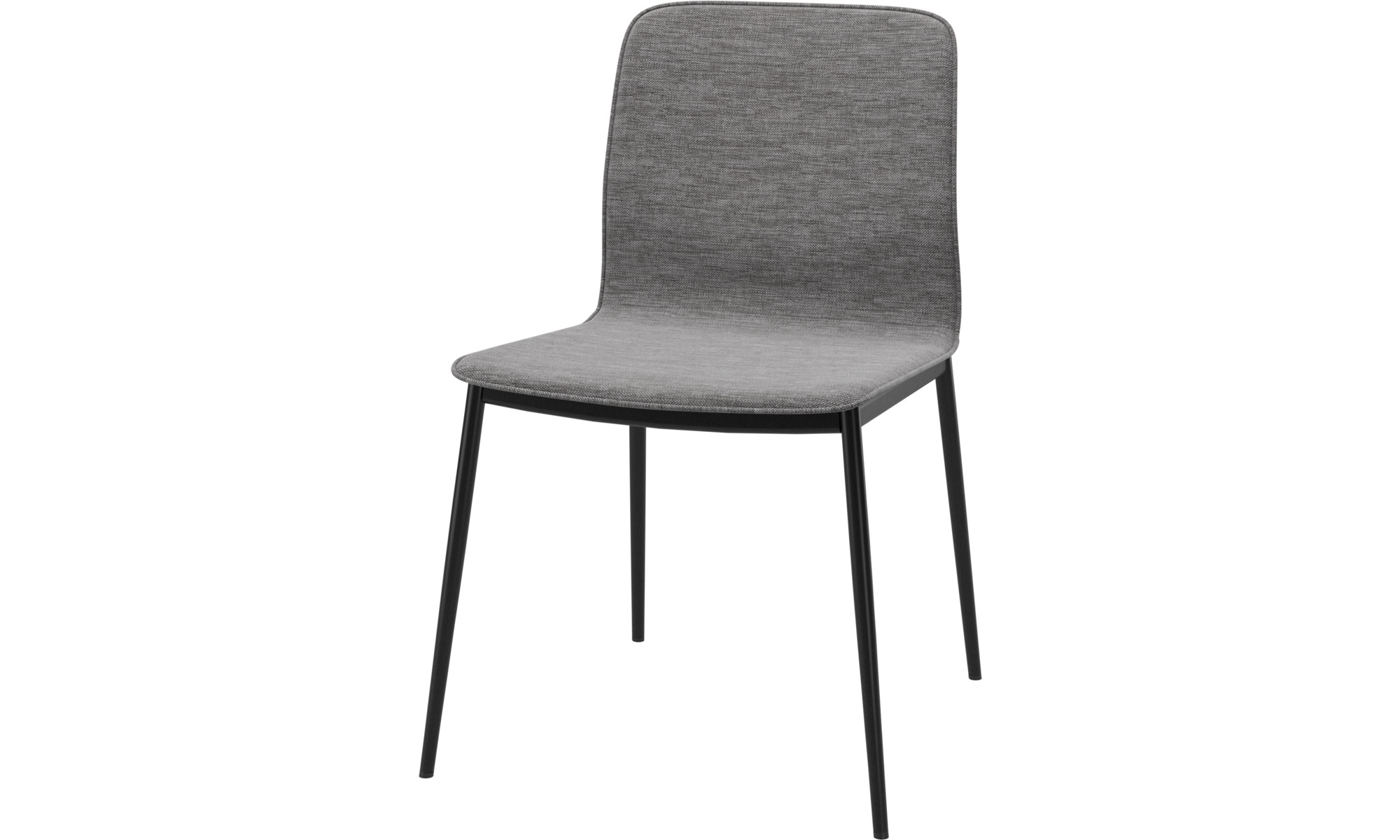 Esszimmerstühle - Newport Stuhl - Grau - Stoff