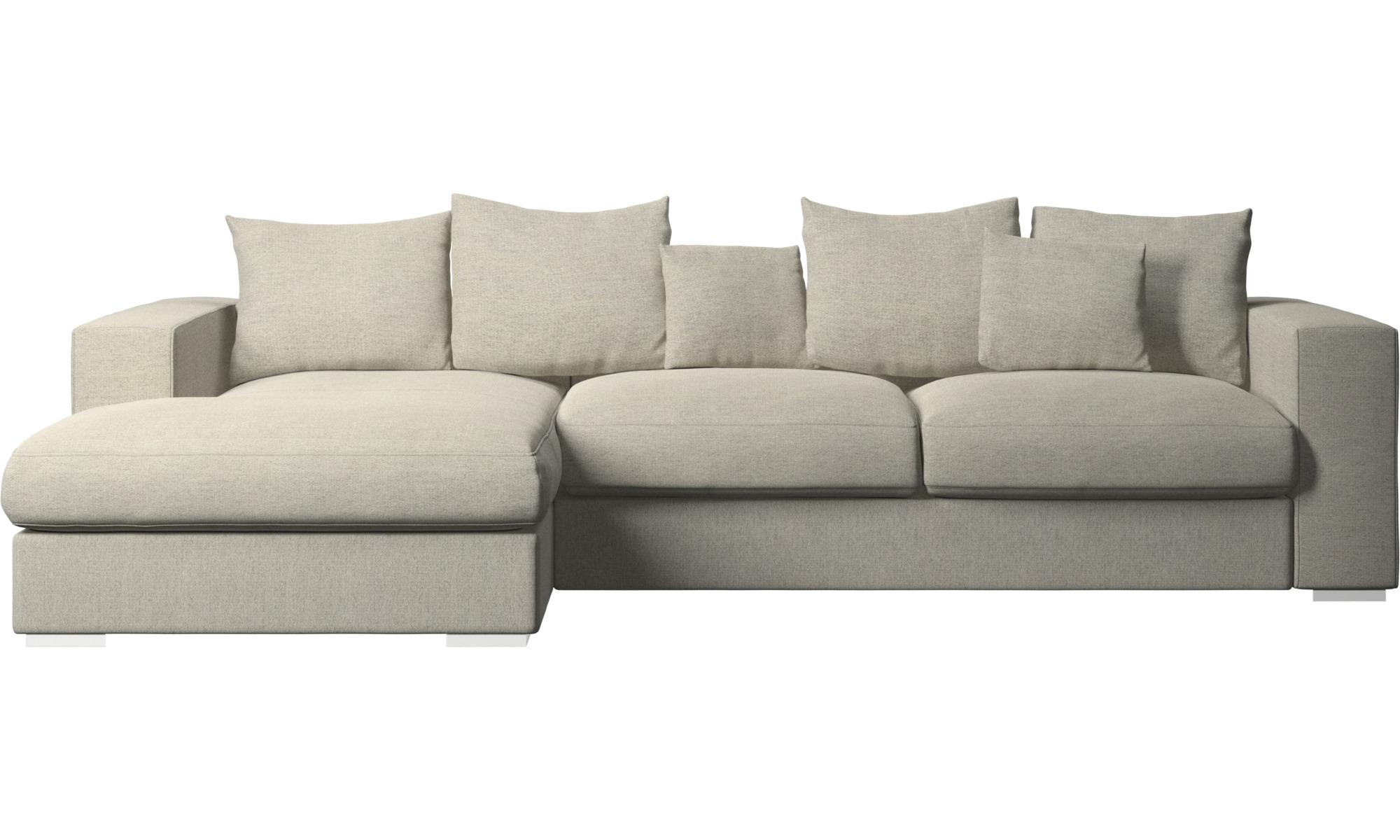 Chaise longue sofas - Cenova sofa with resting unit - Beige - Fabric