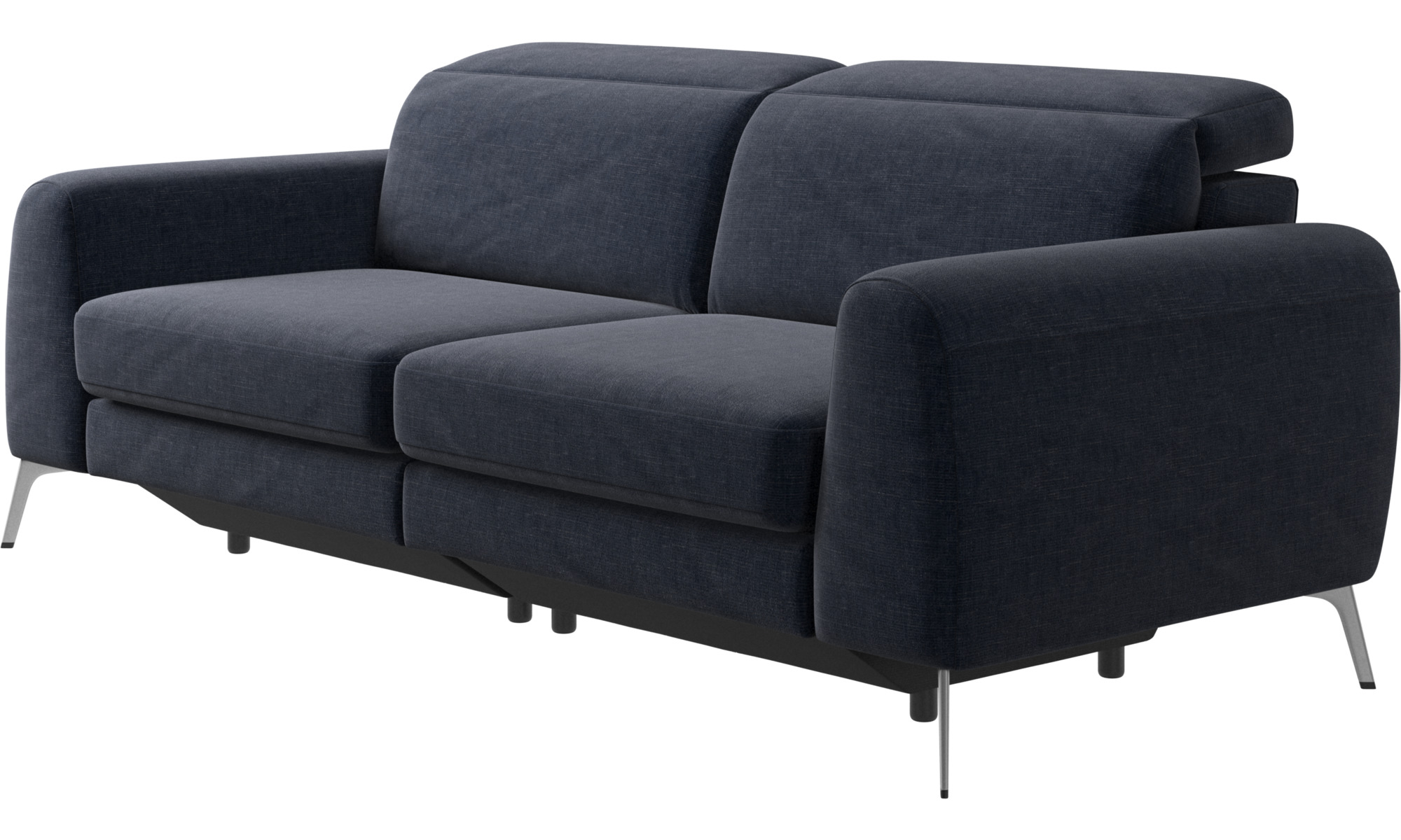 dunkelblauer napoli stoff madison sofa mit verstellbarer kopfst tze boconcept. Black Bedroom Furniture Sets. Home Design Ideas