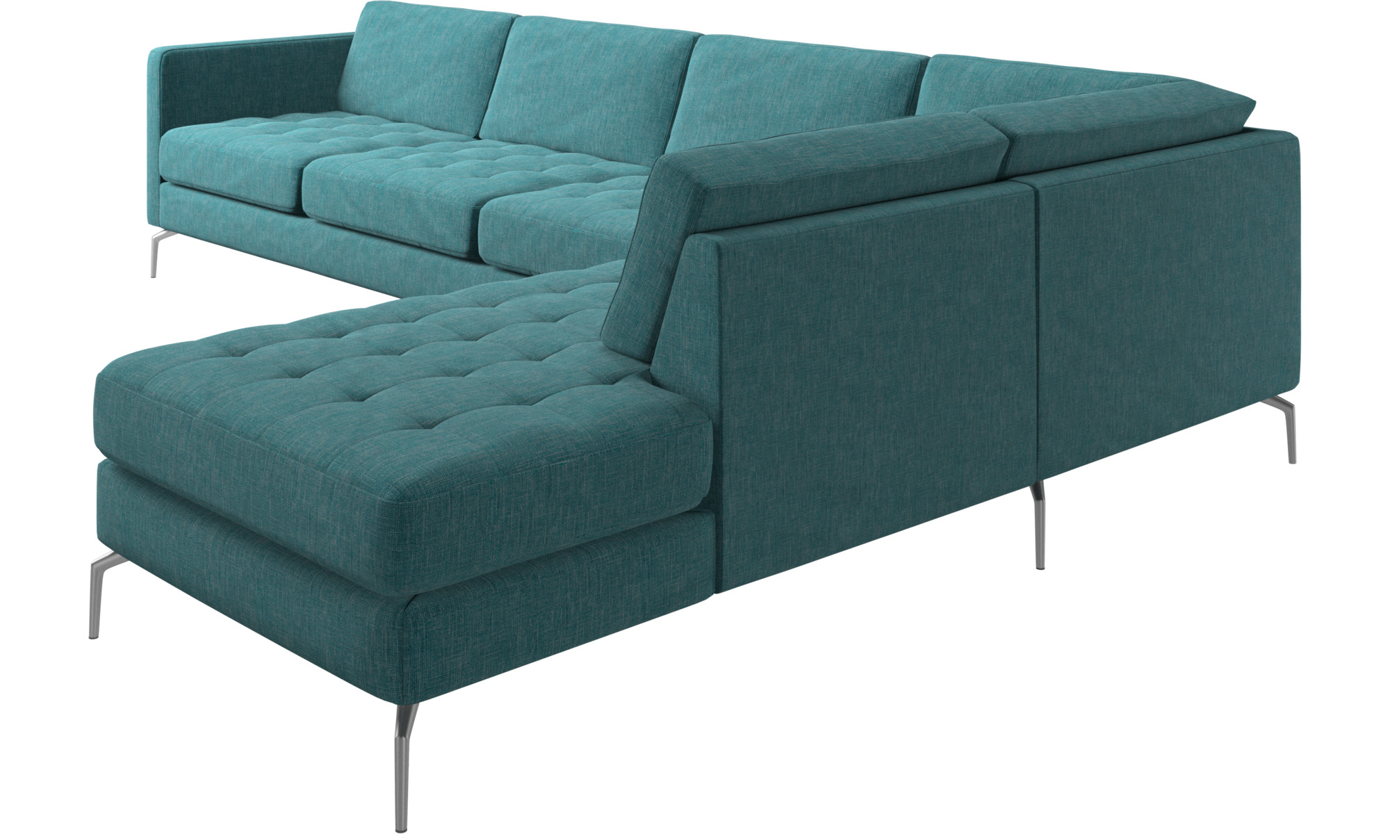 Sofas with open end - Osaka corner sofa with lounging unit ...