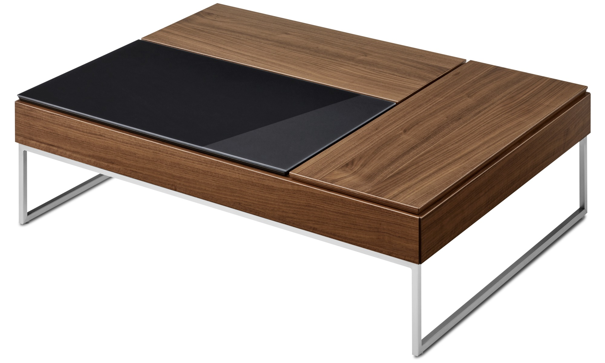... Coffee tables - Chiva functional coffee table with storage - square -  Brown - Walnut ...