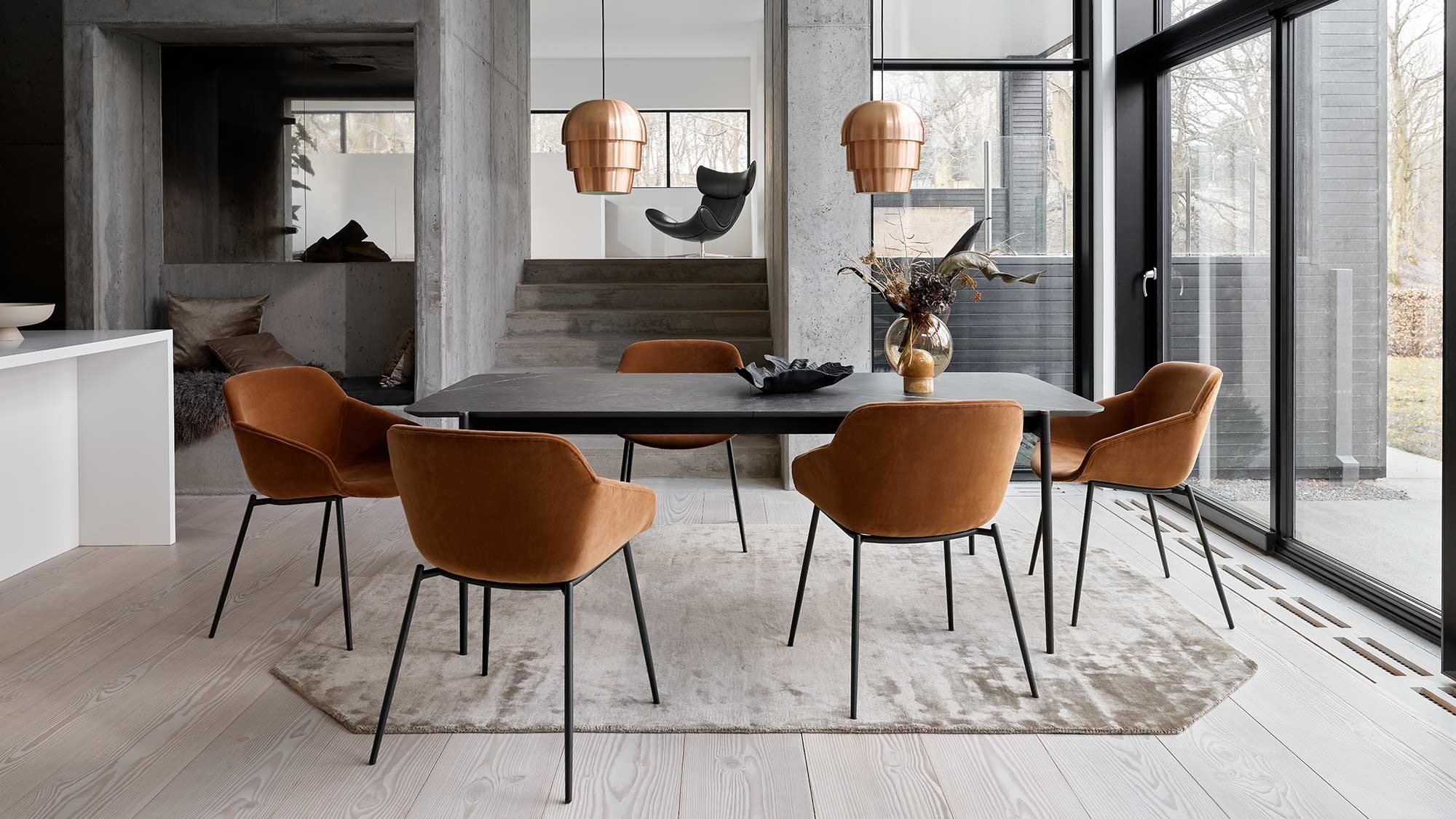 Dining tables - Augusta table with supplementary tabletop