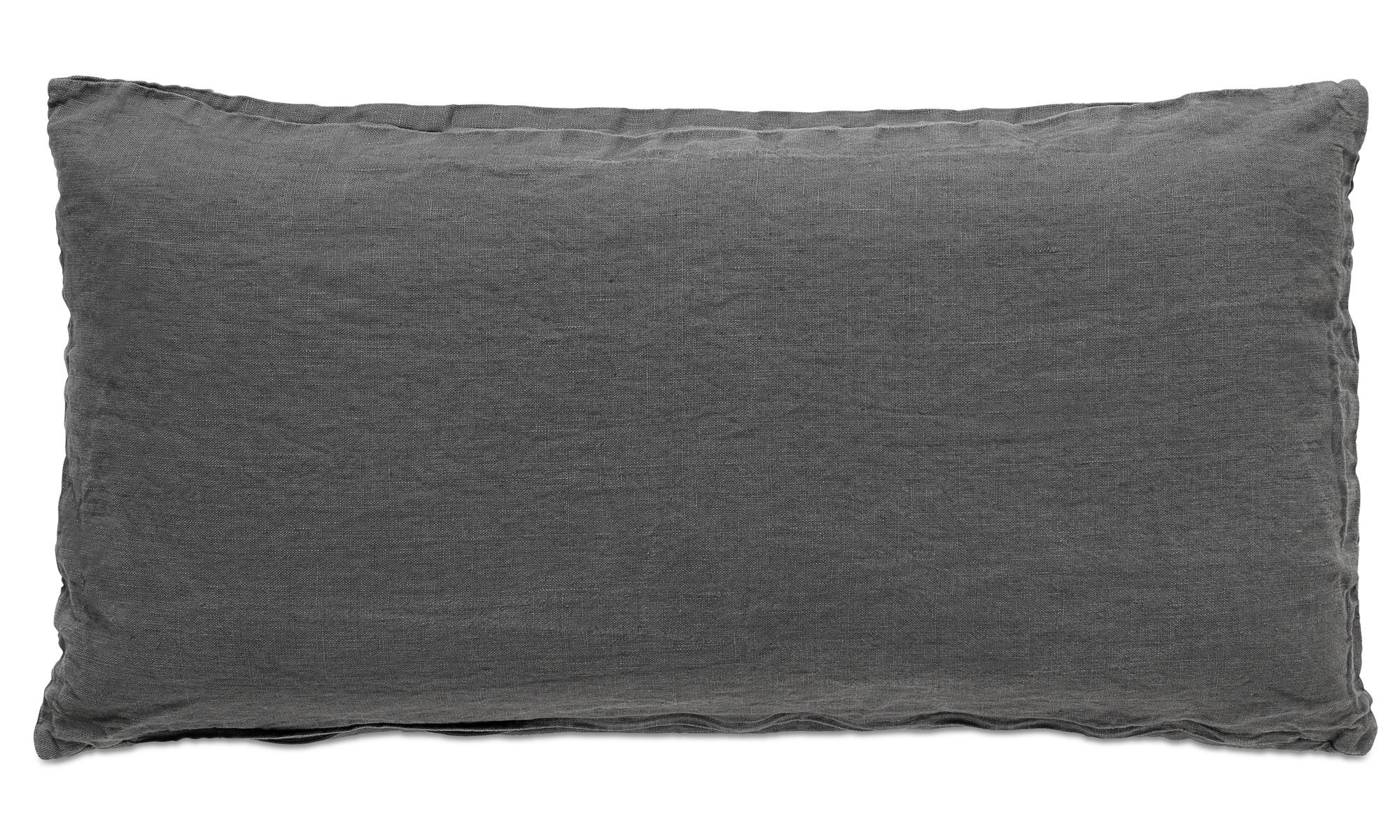 Cushions - Linen washed cushion - Grey - Fabric