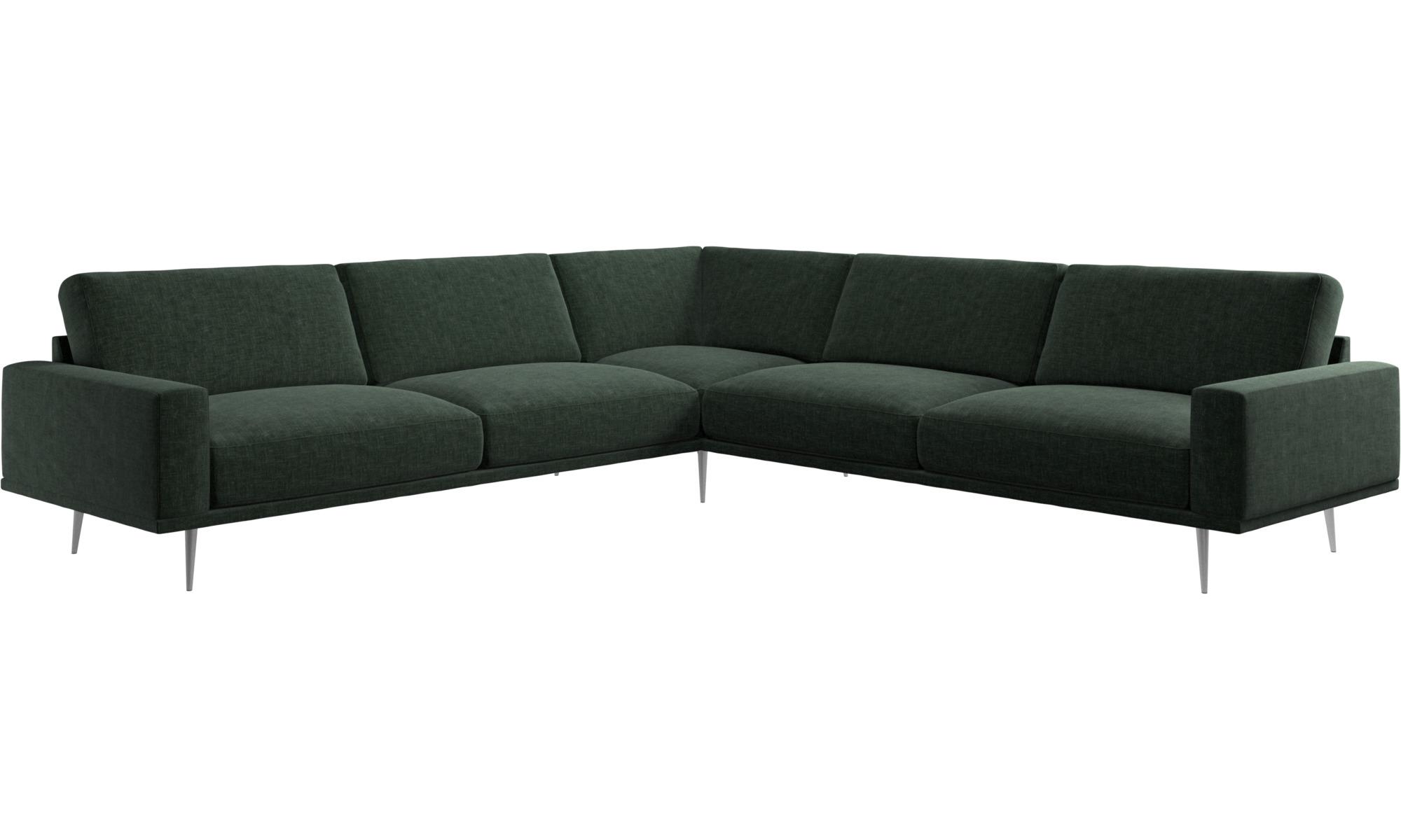 ... New Designs   Carlton Corner Sofa   Green   Fabric
