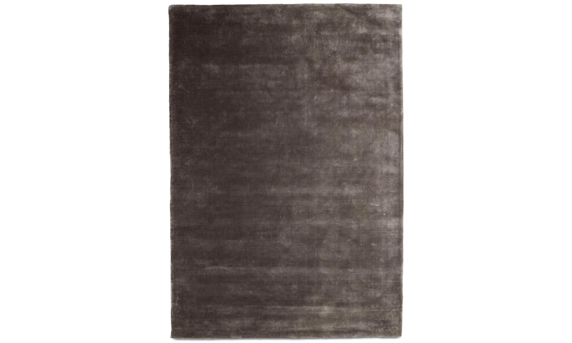 Round rugs - Loom rug - rectangular - Grey - Tencel
