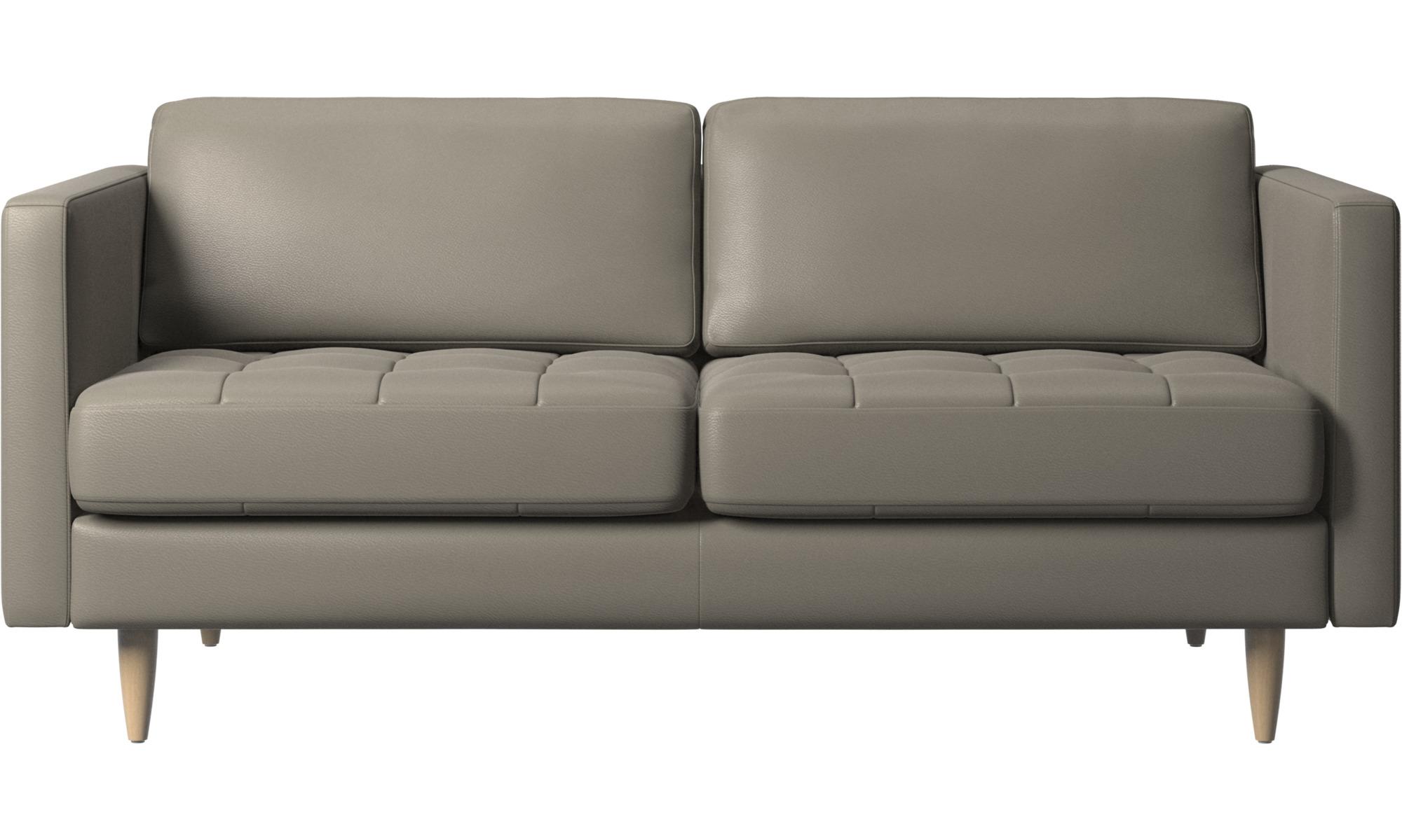2 personers sofaer - Osaka sofa, tuftet sædehynde - Grå - Læder