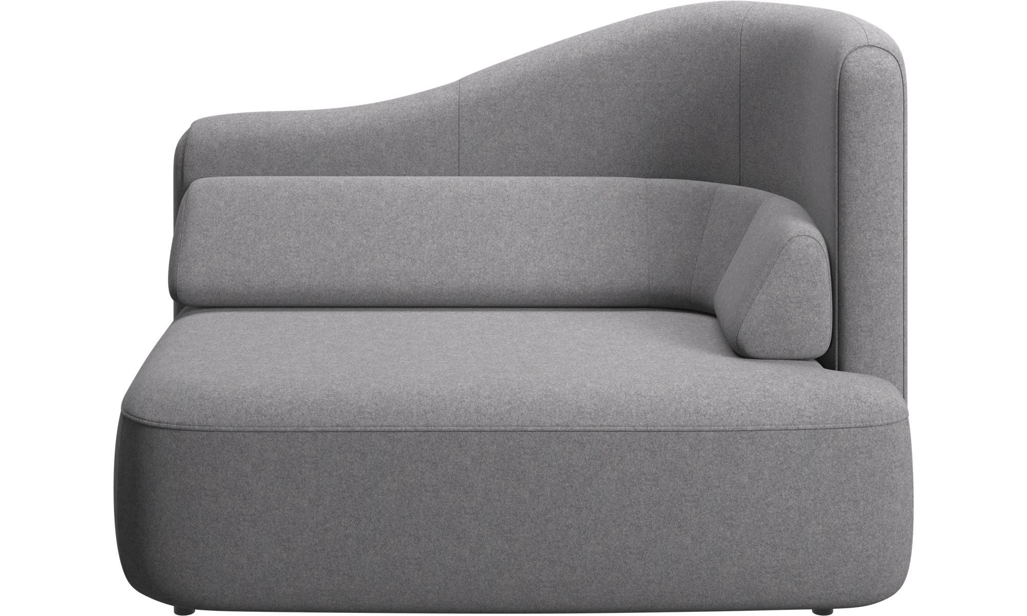 Modulære sofaer - Ottawa 1,5 personers højre armlæn - Grå - Stof