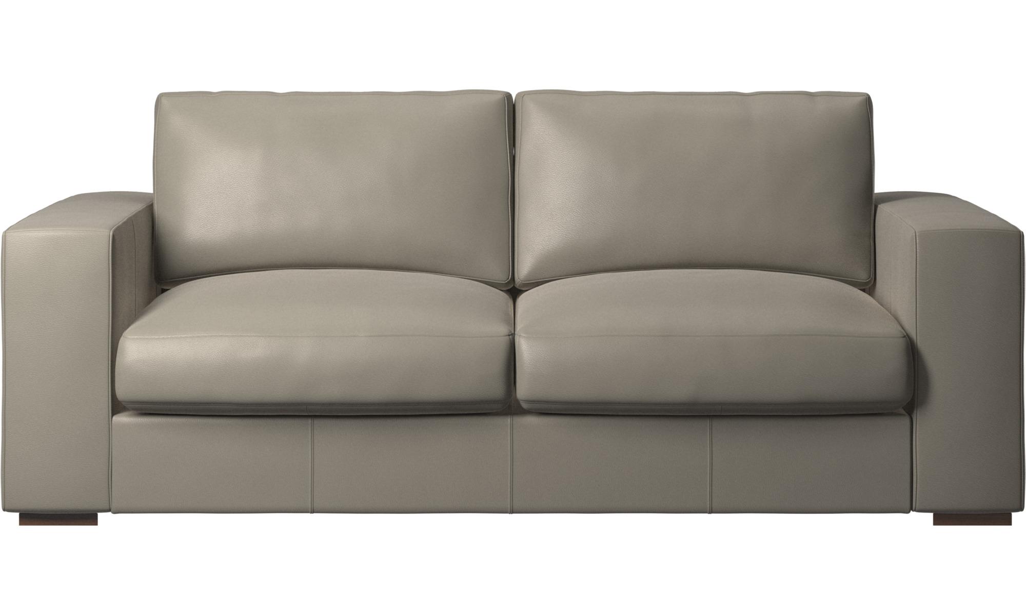 2½ personers sofaer - Cenova sofa - Grå - Læder