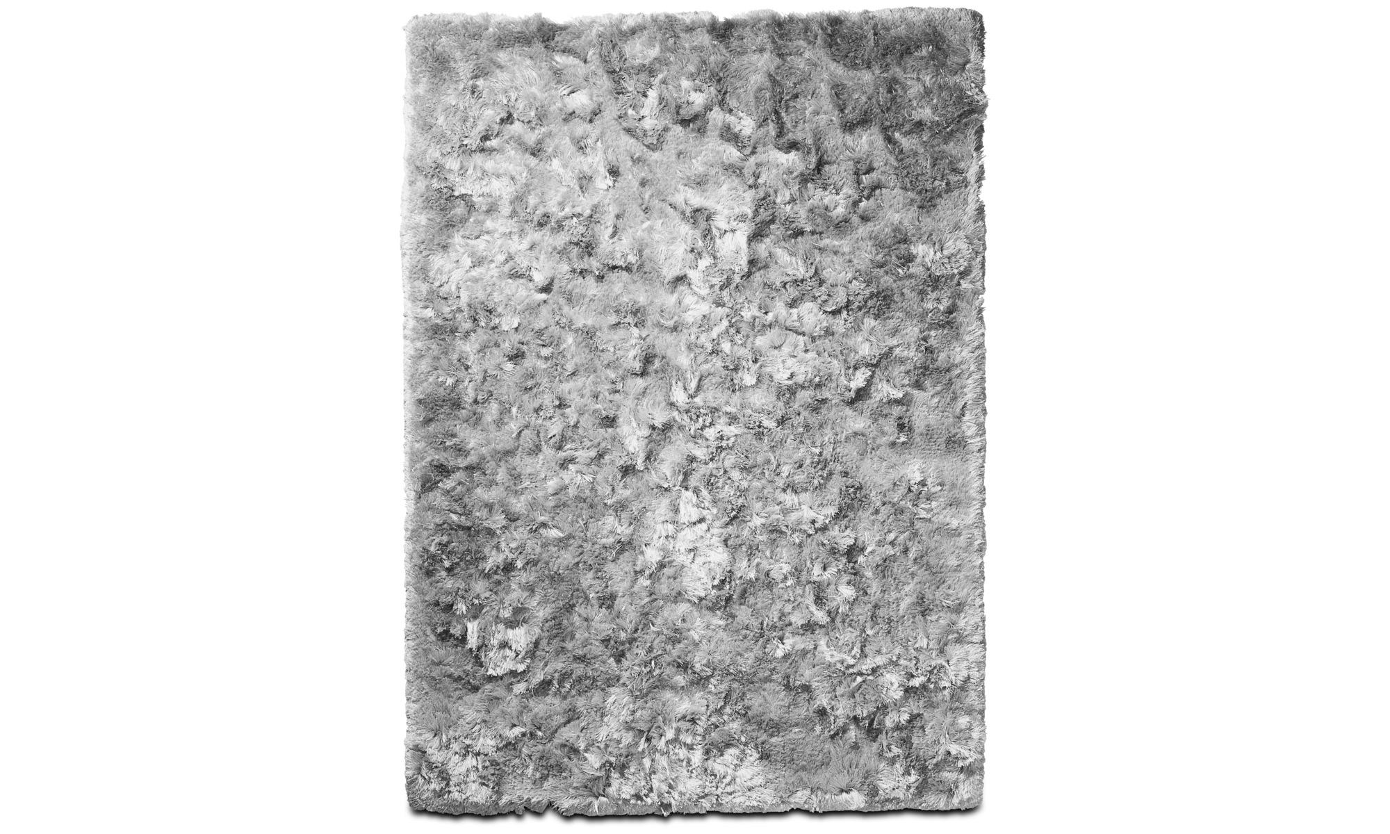 Round rugs - Neat rug - rectangular - Grey - Fabric